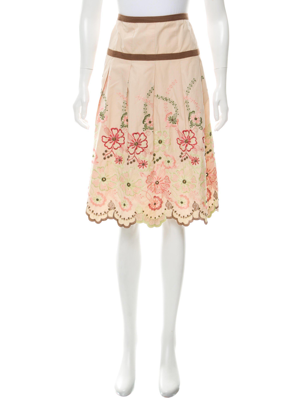 Lyst Day Birger Et Mikkelsen Embroidered Top Stitch Pleat Skirt