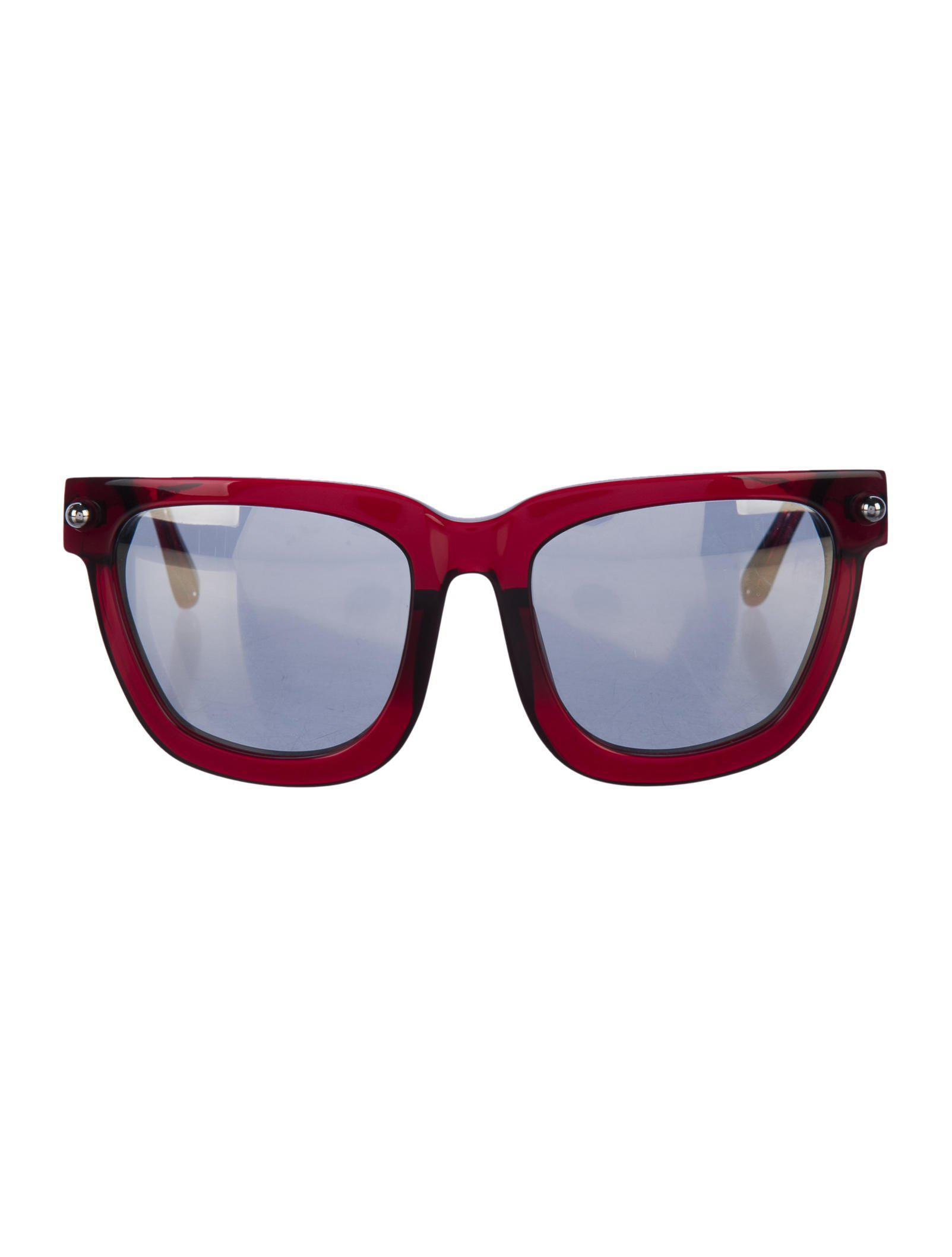 0fc99def829e Lyst - Alexander Wang Tinted Wayfarer Sunglasses Silver in Metallic