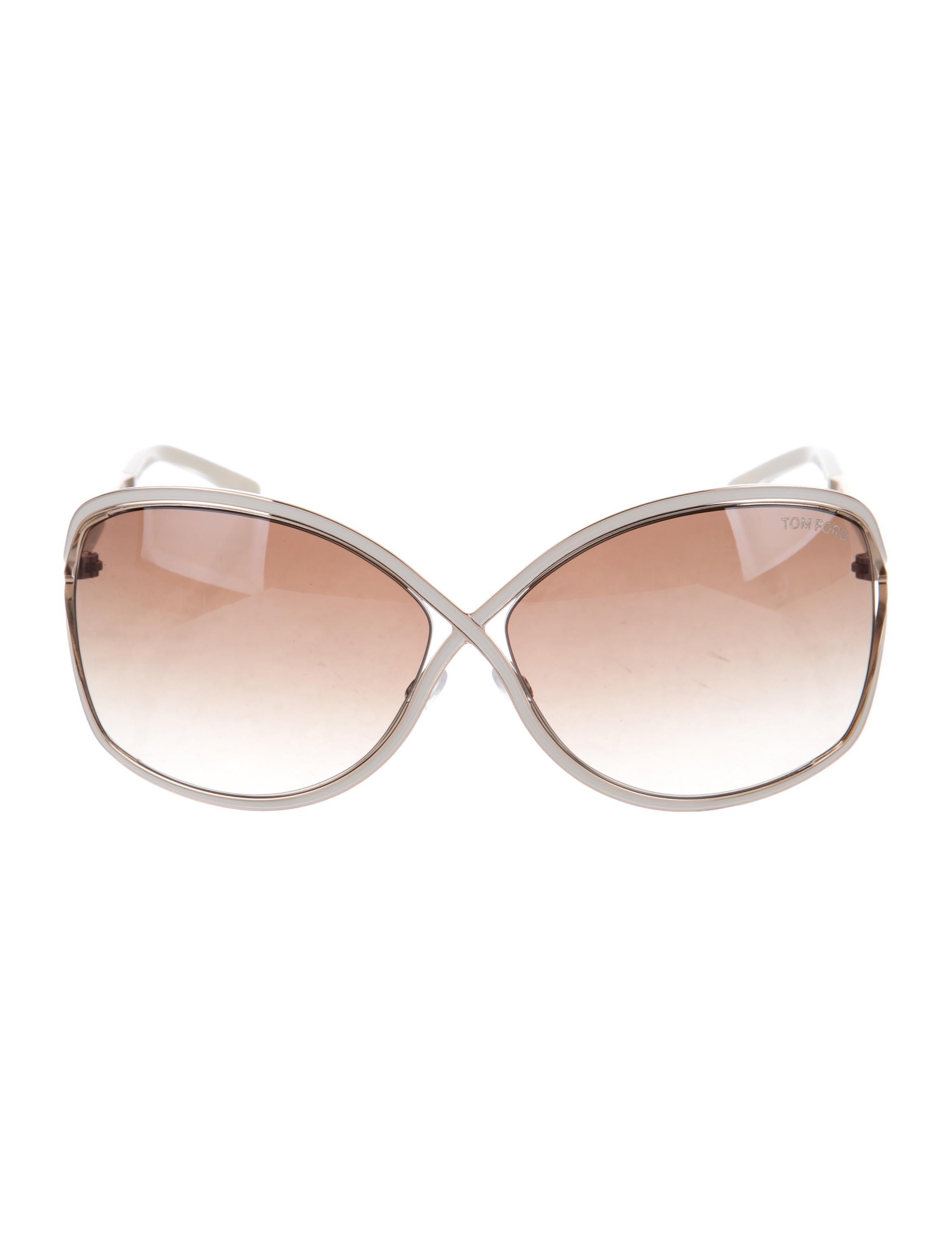 74605f536f5e5 Lyst - Tom Ford Rickie Oversize Sunglasses Gold in Metallic