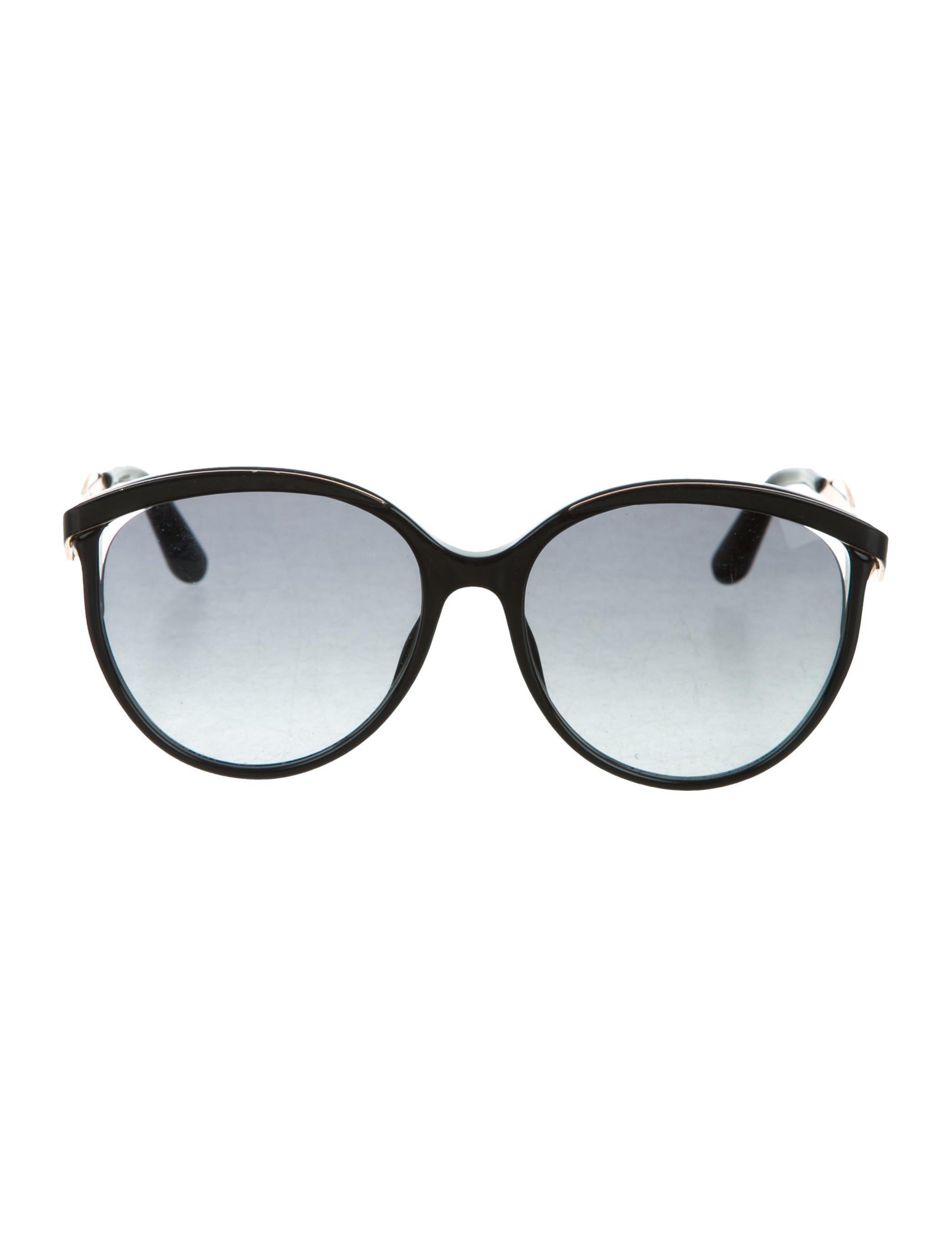 0a35a7857b Lyst - Dior Metal Eyes 1 Sunglasses Black in Metallic