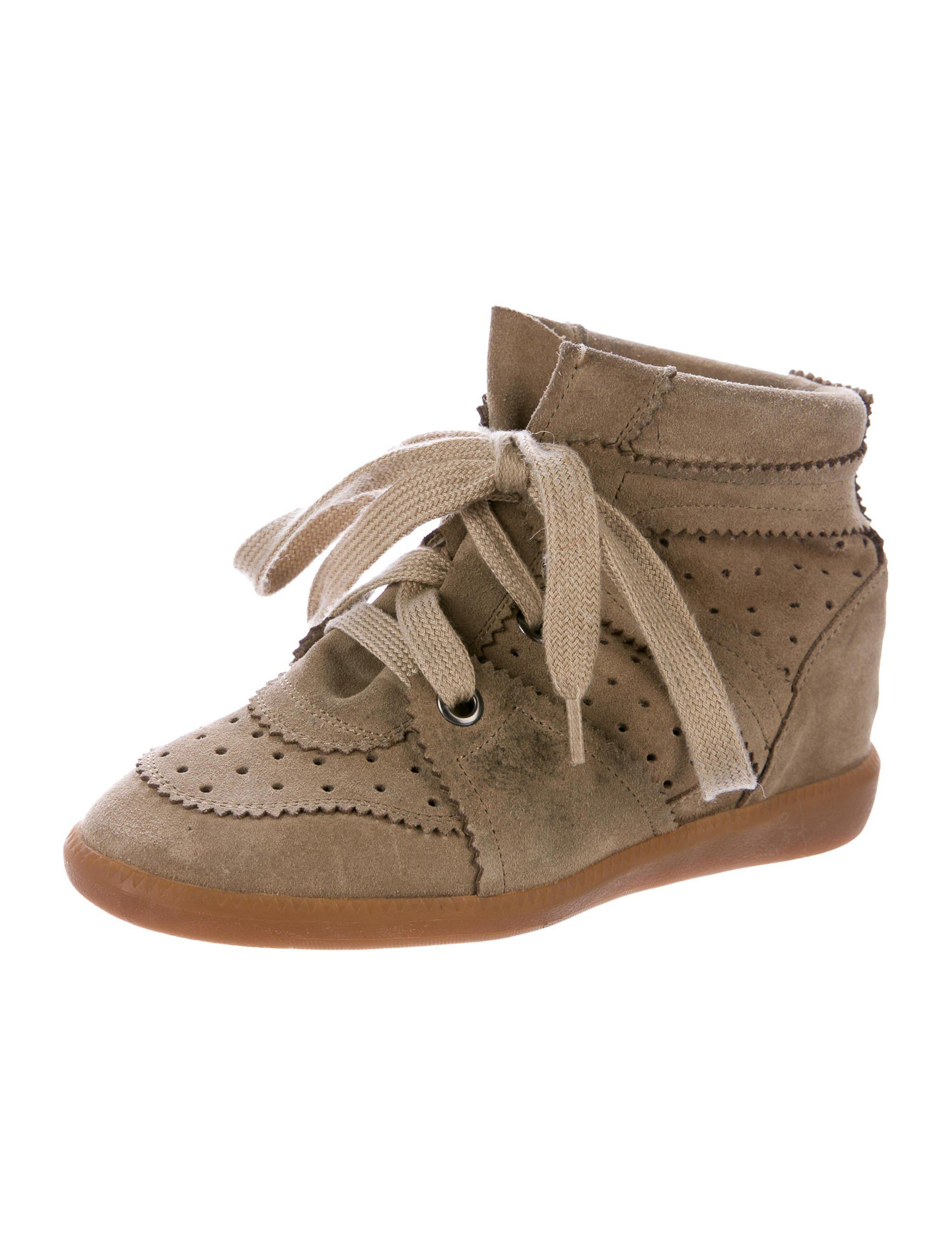 7c2f2b14b9c28d Lyst - Isabel Marant Bobby Wedge Sneakers Olive in Green