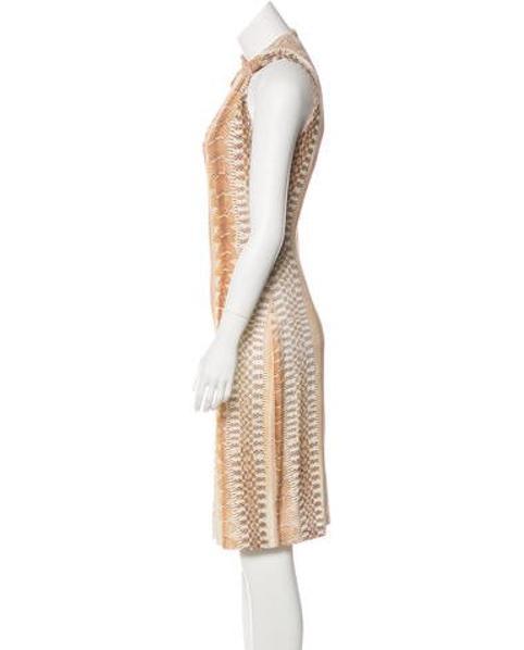 4c523b374d0 Lyst - Roberto Cavalli Animal Print Midi Dress Tan in Natural