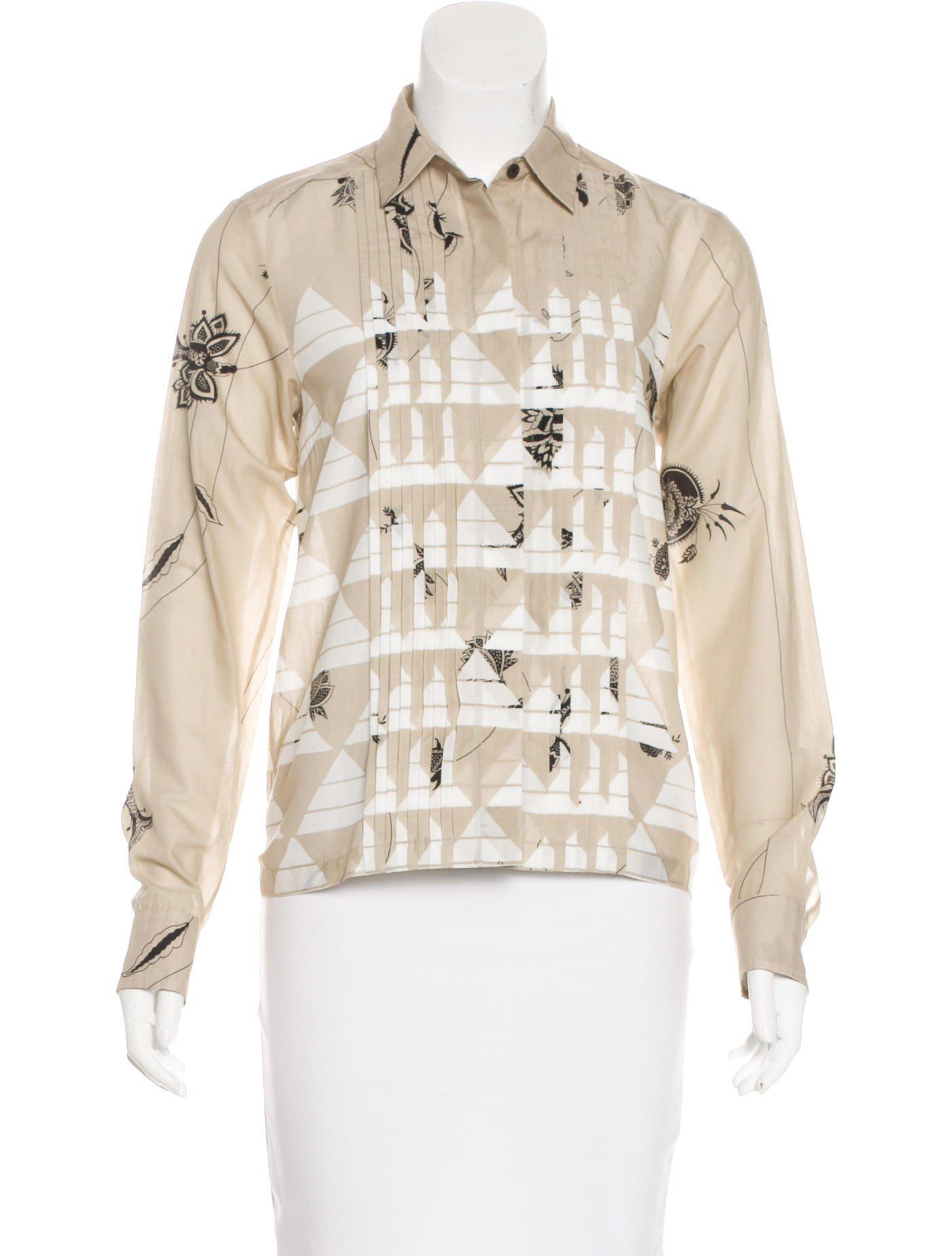 Dries Van Noten Sheer Silk Blouse w/ Tags Free Shipping Largest Supplier 08o26