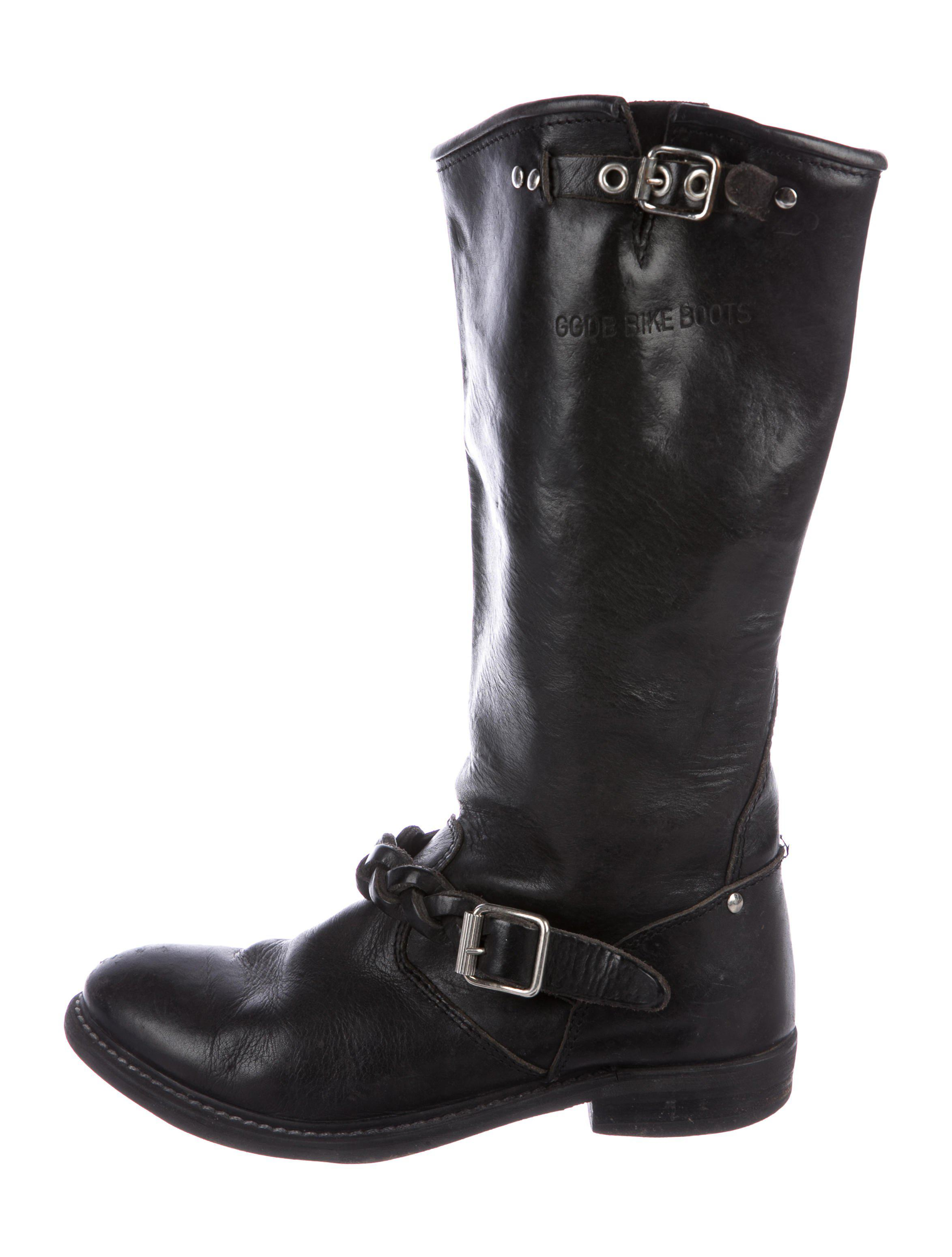 Golden Goose Rounded-Toe Leather Boots