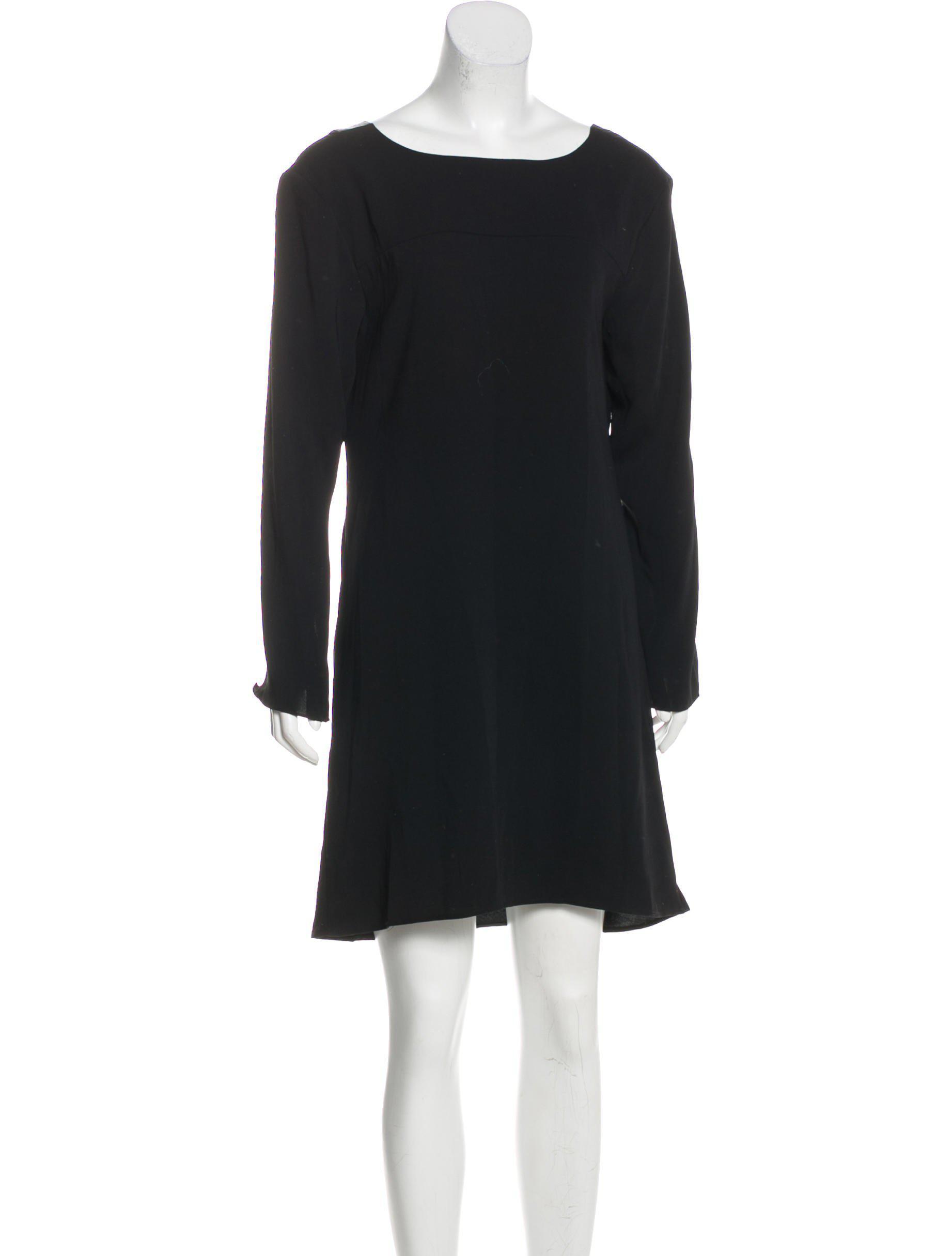 7aa8b259ba2b Lyst - Halston Heritage Knee-length Long Sleeve Dress in Black