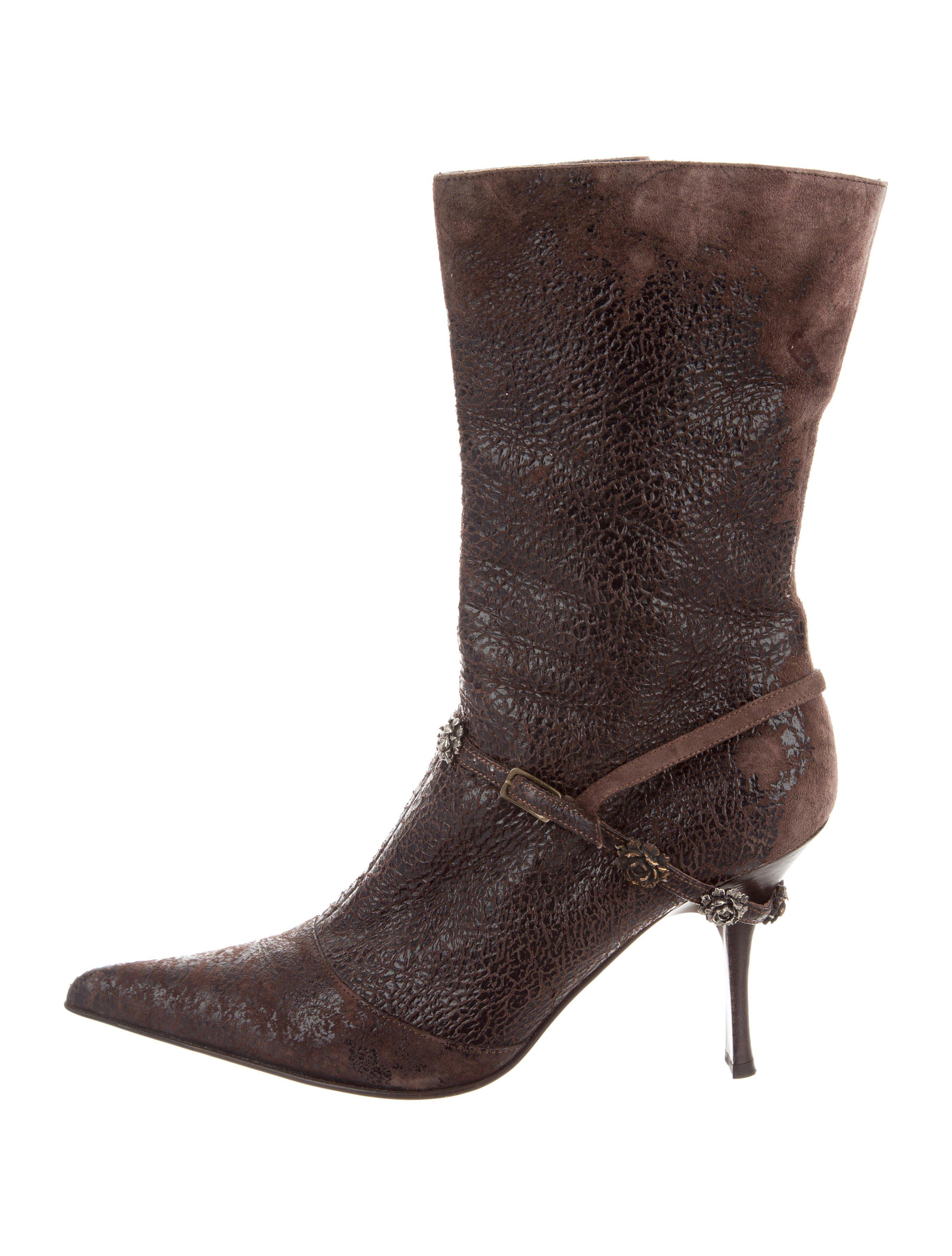 Roberto Cavalli Suede Floral-Embellished Ankle Boots for cheap price clearance best sale cheap classic Inexpensive discount tumblr Fn5P1hRj