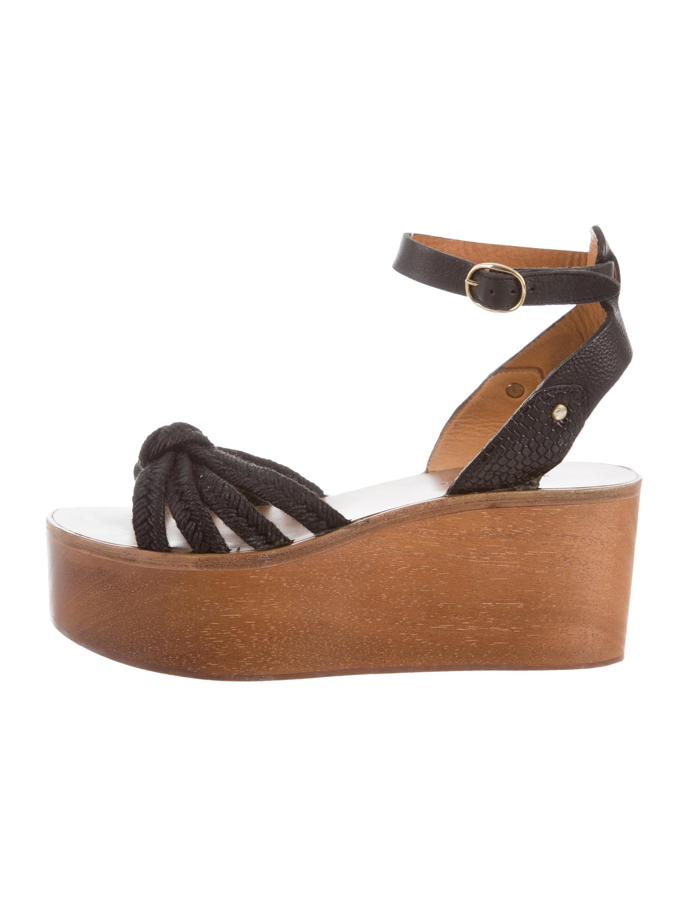 1d1d51046d3 Lyst - Étoile Isabel Marant Platform Wedge Sandals in Black