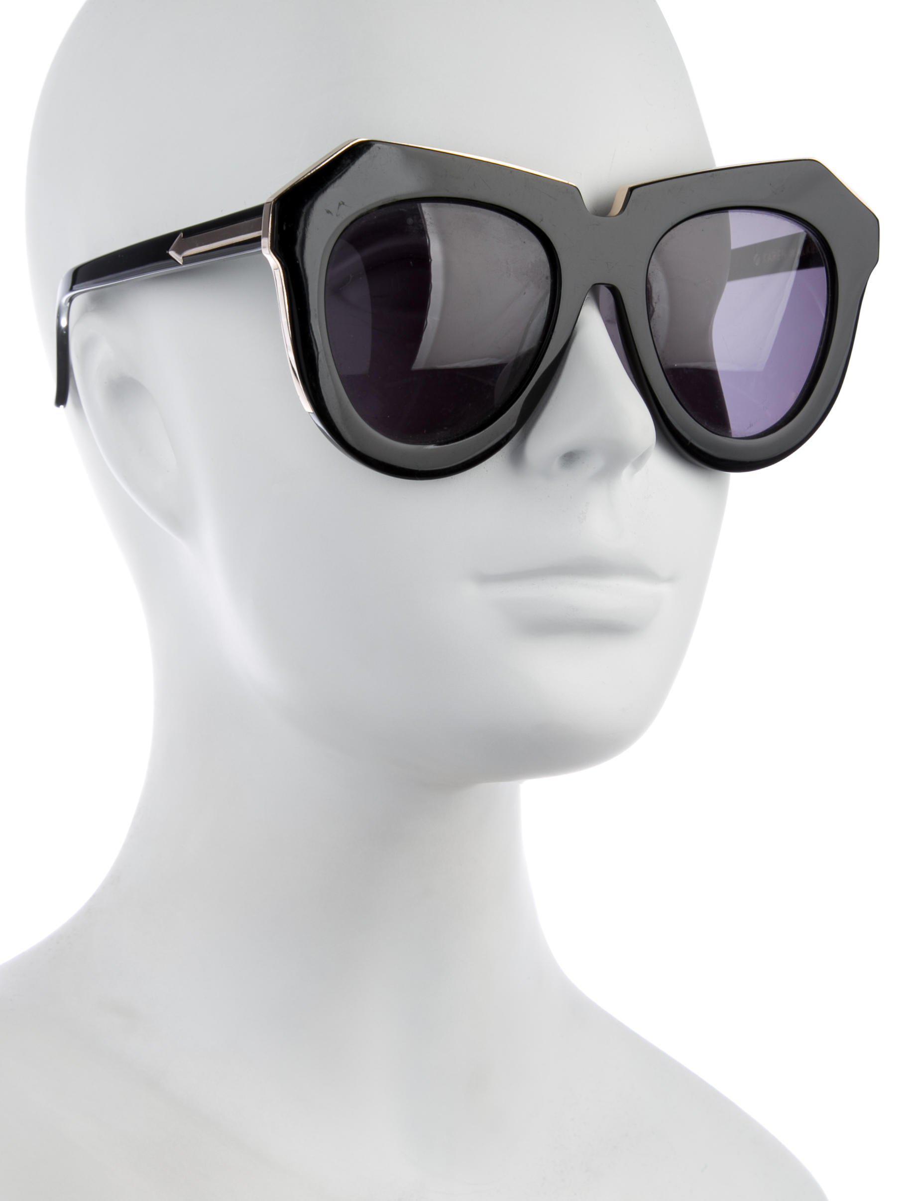 9bb2489bbb9c Lyst - Karen Walker One Meadow Tinted Sunglasses Black in Metallic