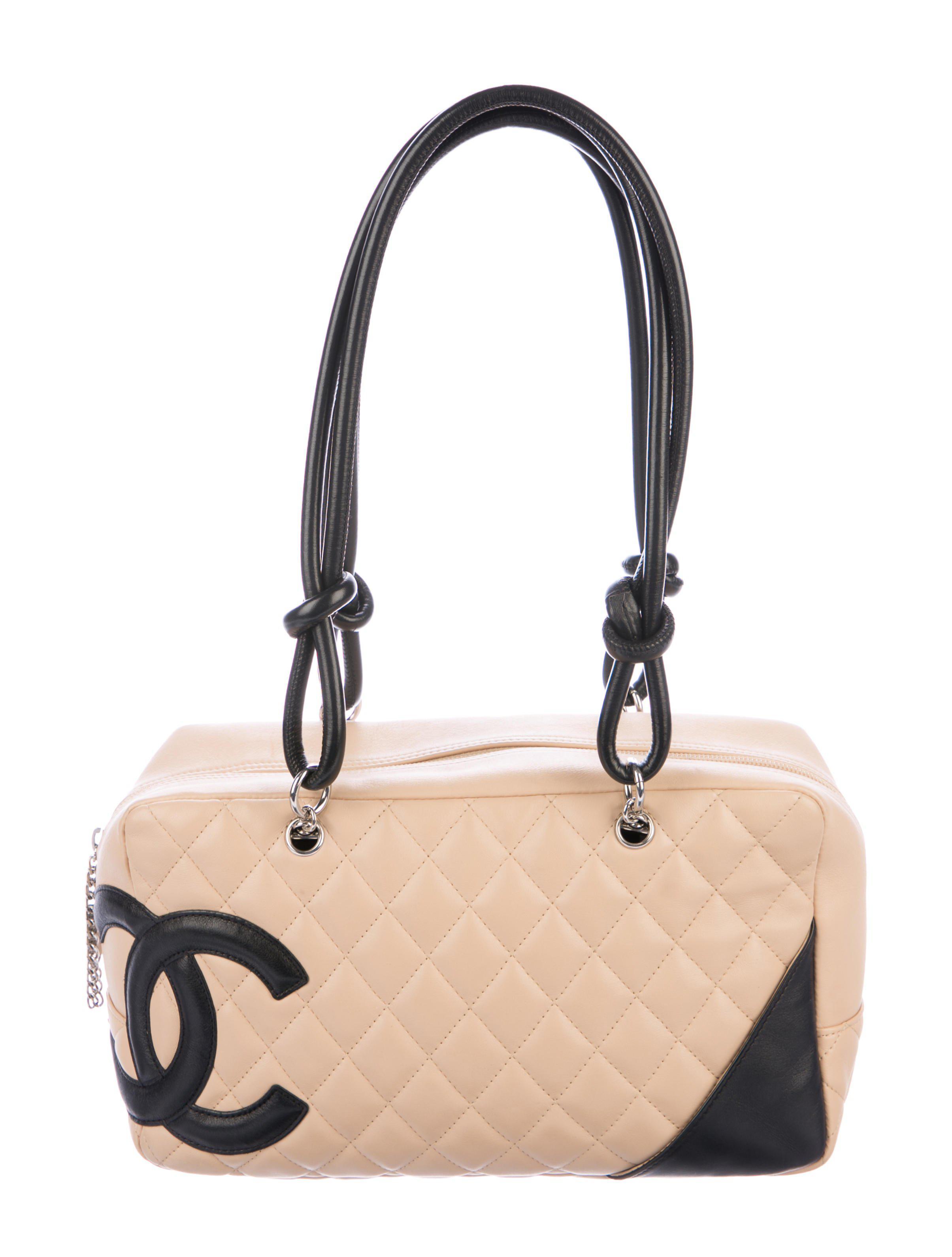 d7fb5991a7 Lyst - Chanel Ligne Cambon Bowler Bag Black in Metallic