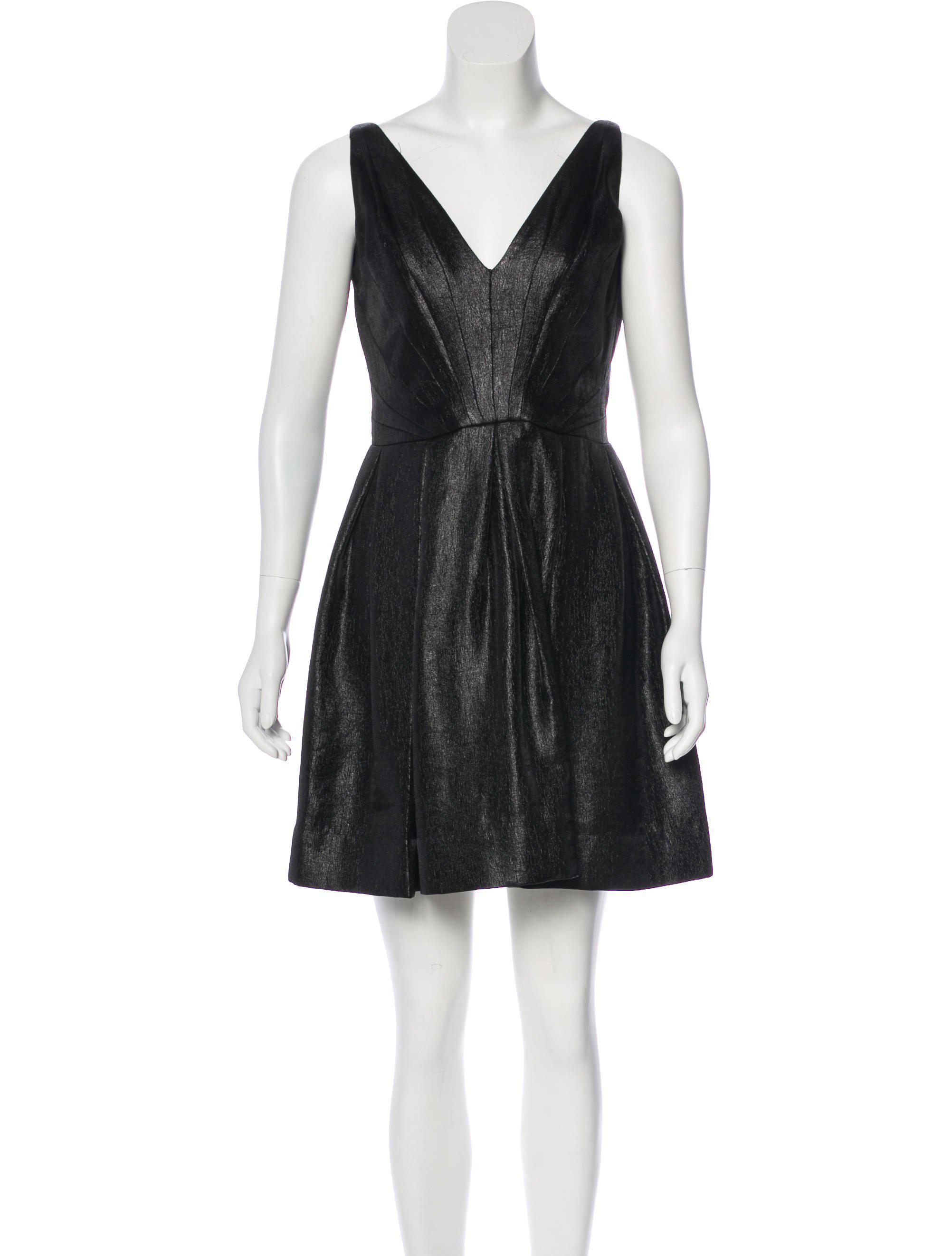 Lyst - Z Spoke By Zac Posen Sleeveless Metallic Mini Dress in Black 0fd9d5f9d