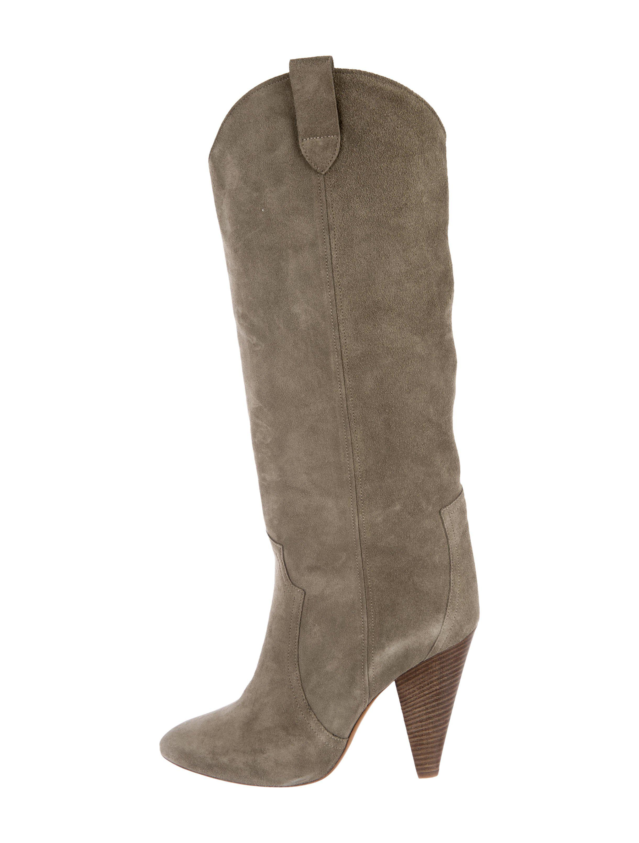 free shipping countdown package Isabel Marant Suede Round-Toe Mid-Calf Boots fashionable sale online discount cheap online outlet free shipping authentic clearance deals R9QwUgd95f