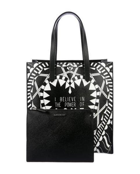 1e15c02d04 Lyst - Givenchy Power Of Love North South Tote Black in Metallic