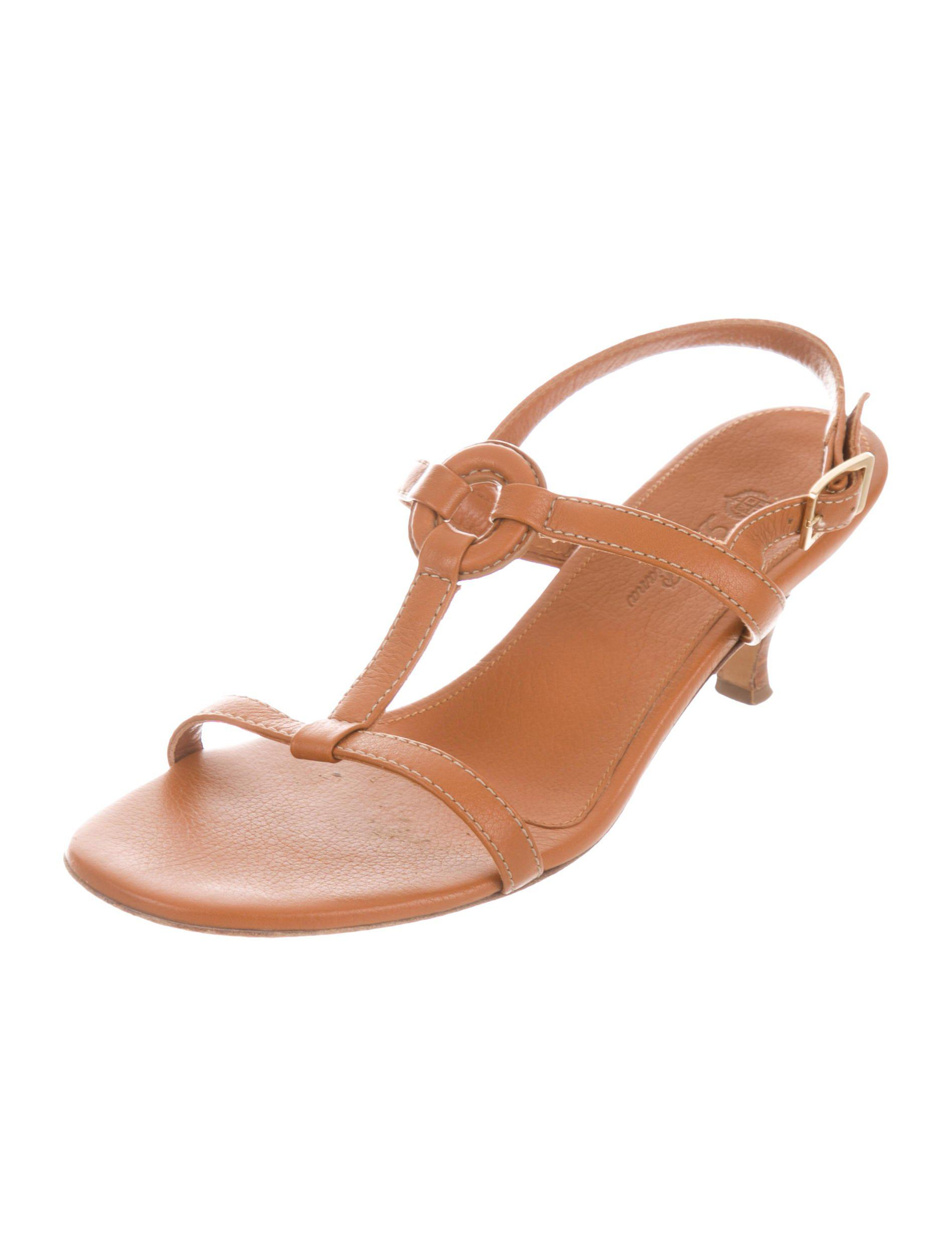 cheap 2015 new outlet cheap prices Loro Piana Leather Caged Sandals pick a best cheap online cheap pay with visa HwgChmey