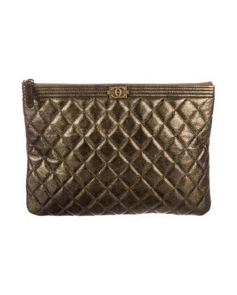 a43970221181 Lyst - Chanel 2017 Boy O-case Gold in Metallic