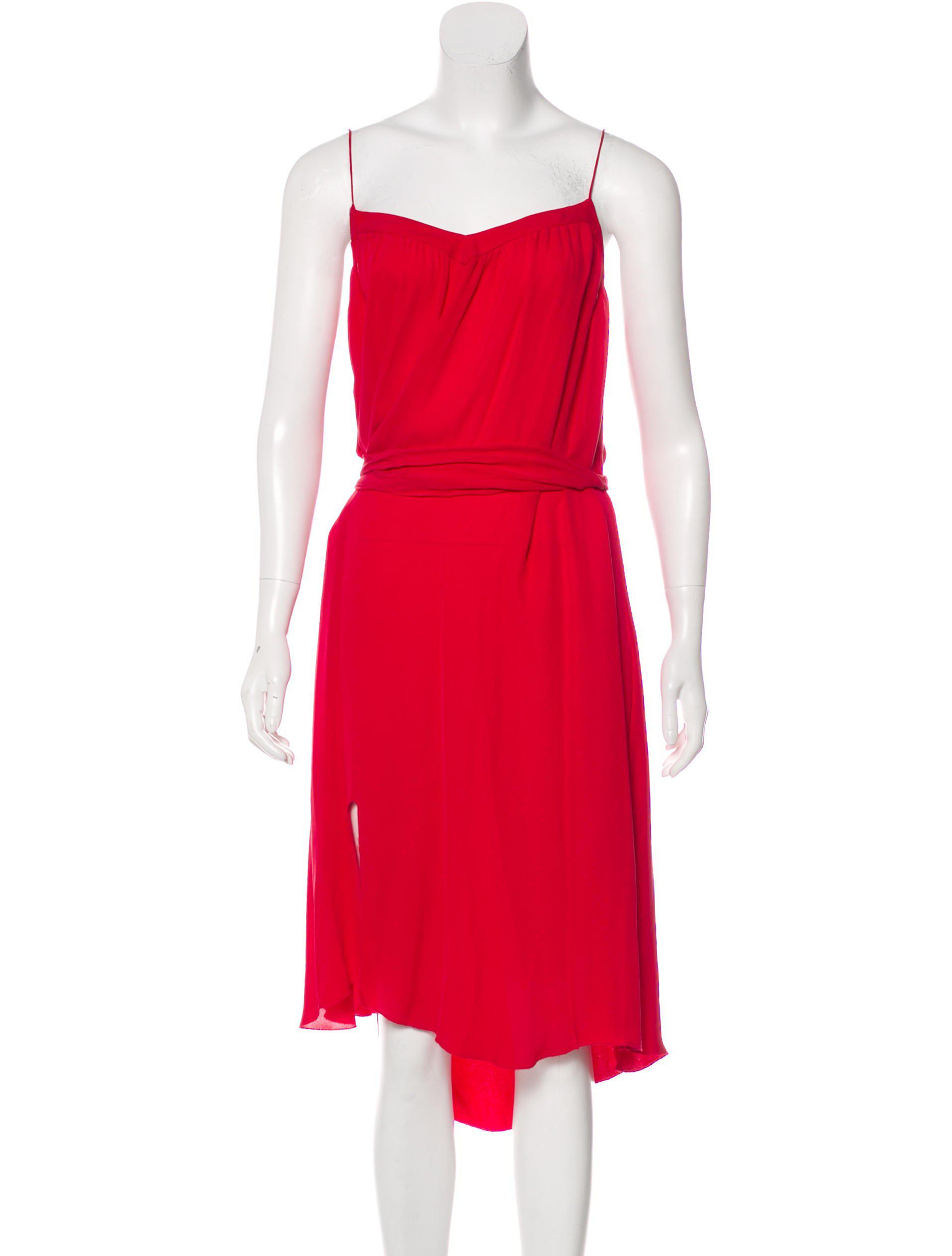 96d0cbf0cb Lyst - L Agence Silk Midi Dress in Red