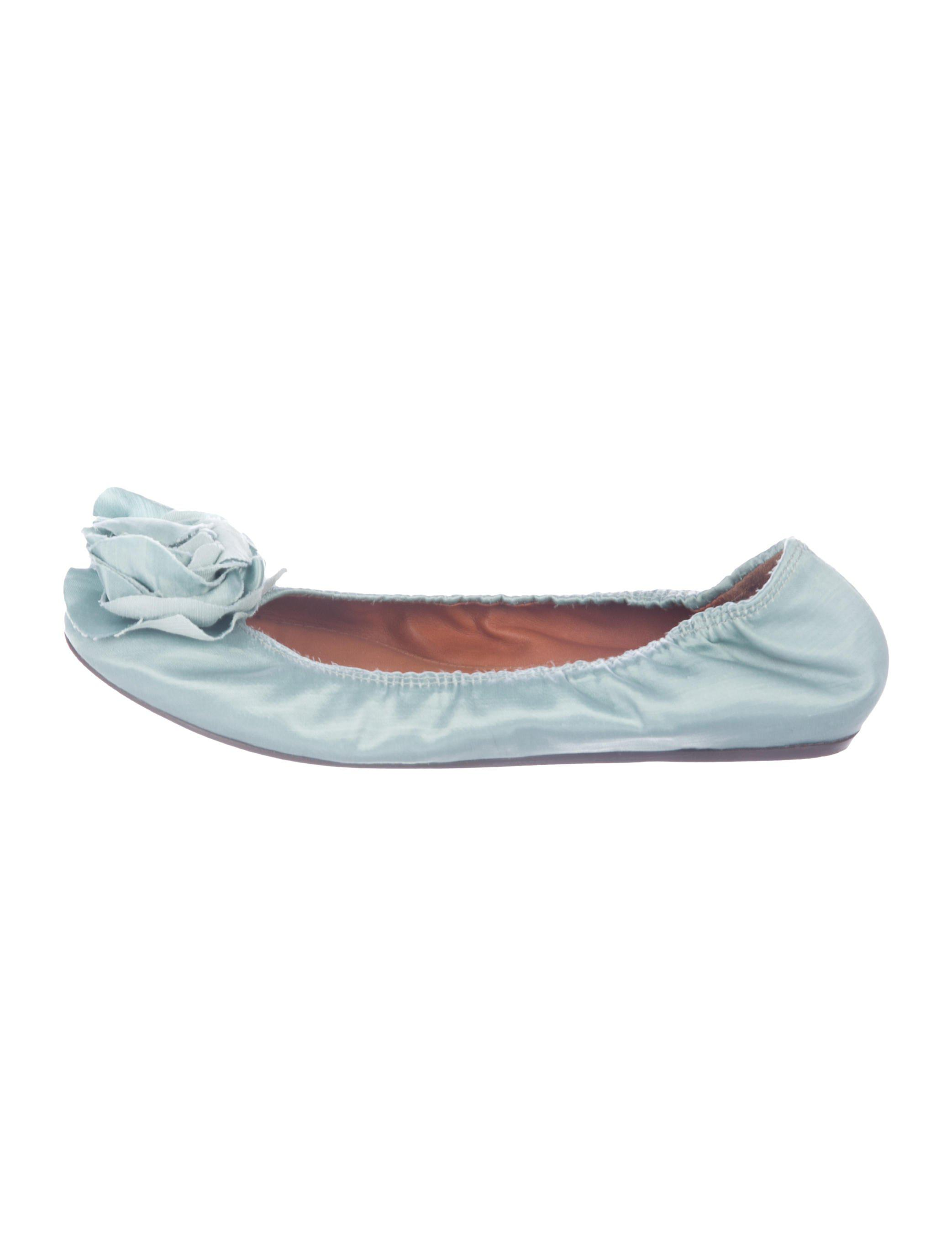 clearance best store to get Lanvin Satin Floral Flats buy cheap sast quality free shipping outlet manchester great sale cheap price good selling cheap price yqGmsg9bm