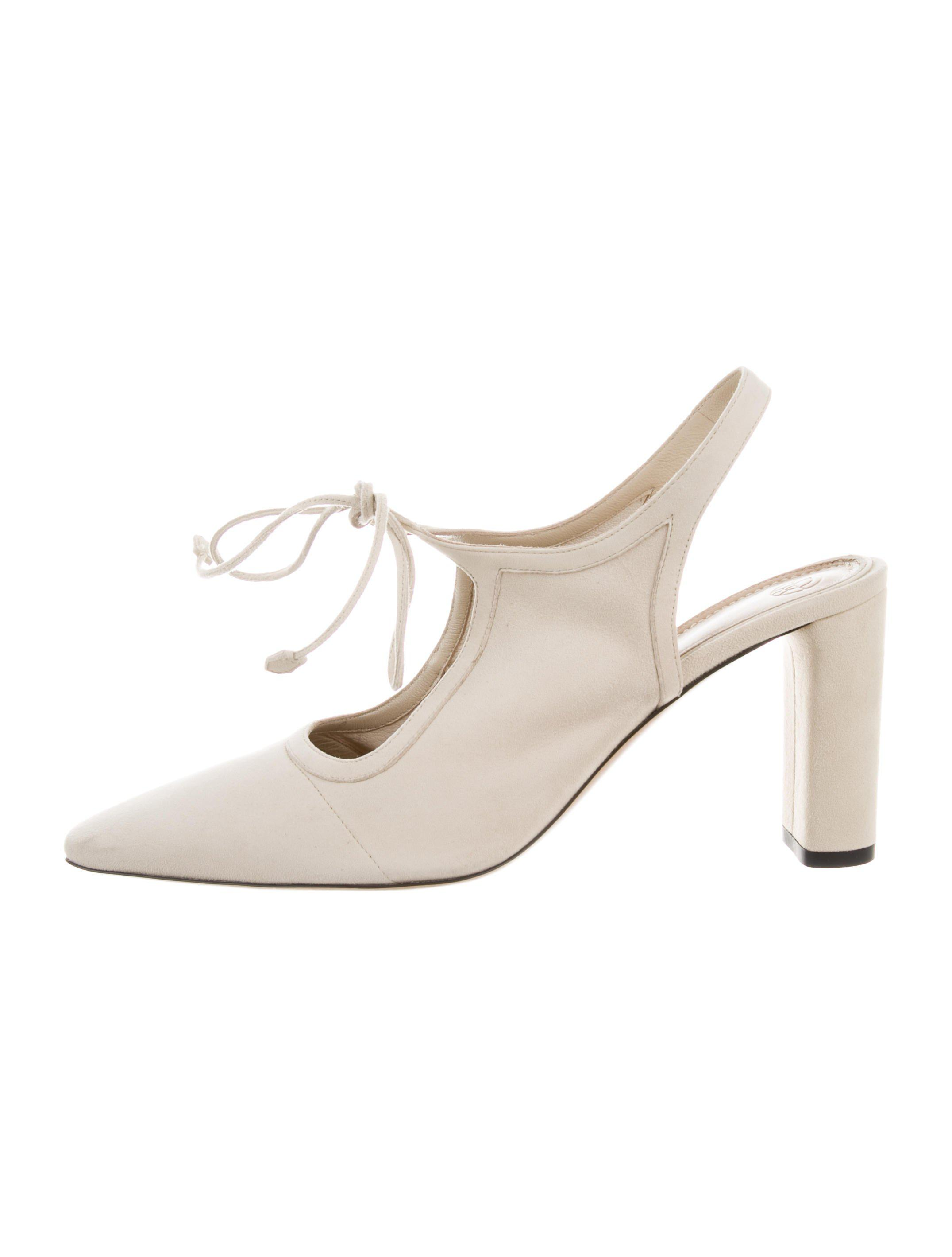 1368906981 Lyst - The Row Camil Suede Pumps Beige in Natural
