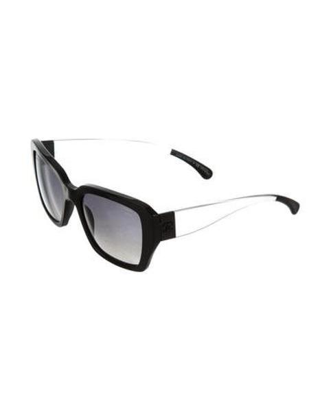 af5ae3dc9c6 Lyst - Chanel Polarized Cc Sunglasses in Black