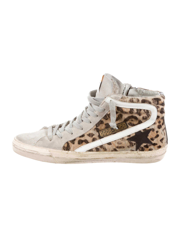 a3acd8e795734 Golden Goose Deluxe Brand. Women s Metallic Slide High-top Sneakers Beige