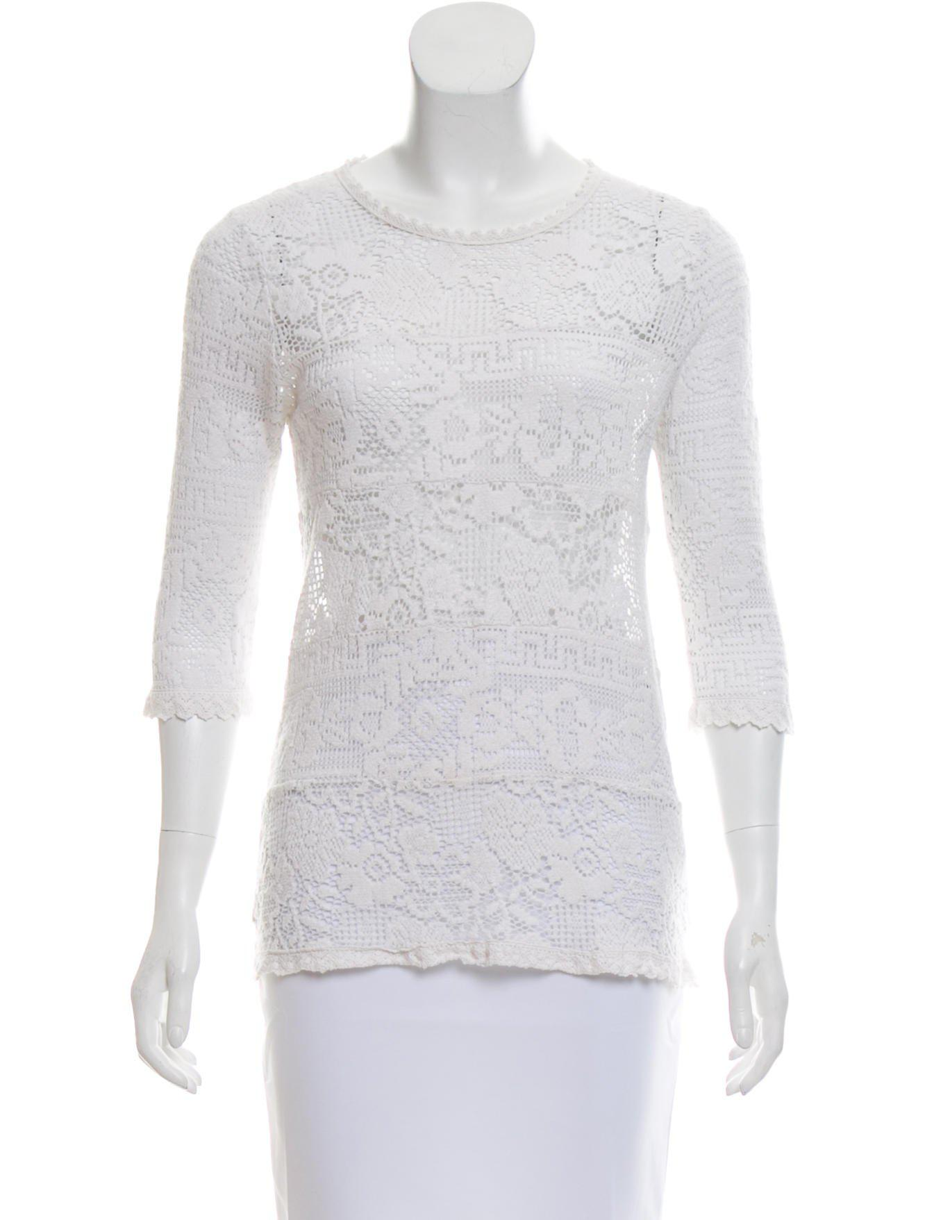 0077d92cda8 Lyst - Étoile Isabel Marant Lace Open-knit Top in White