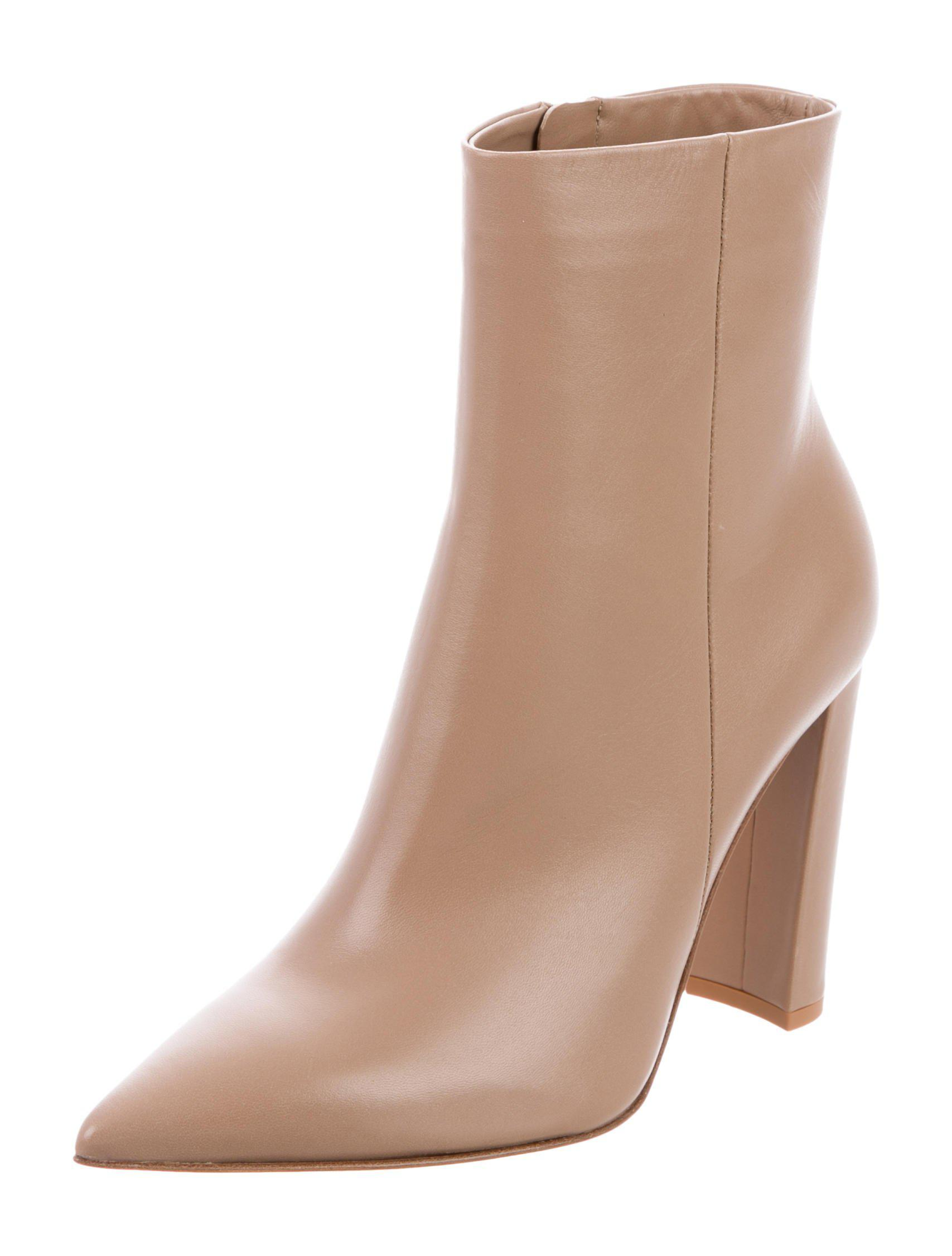 Gianvito Rossi Piper Leather Ankle Boots w/ Tags clearance browse official for sale f5q1F