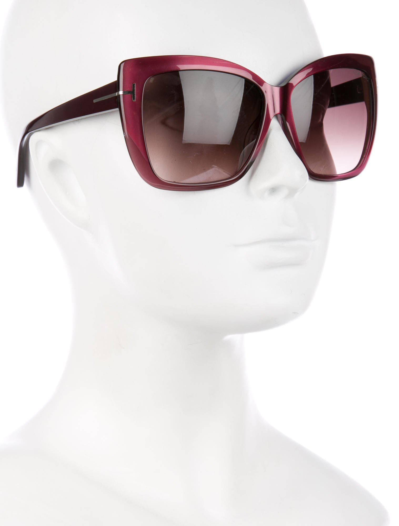 d4fddcbe9006b Tom Ford - Red Irina Oversize Sunglasses - Lyst. View fullscreen