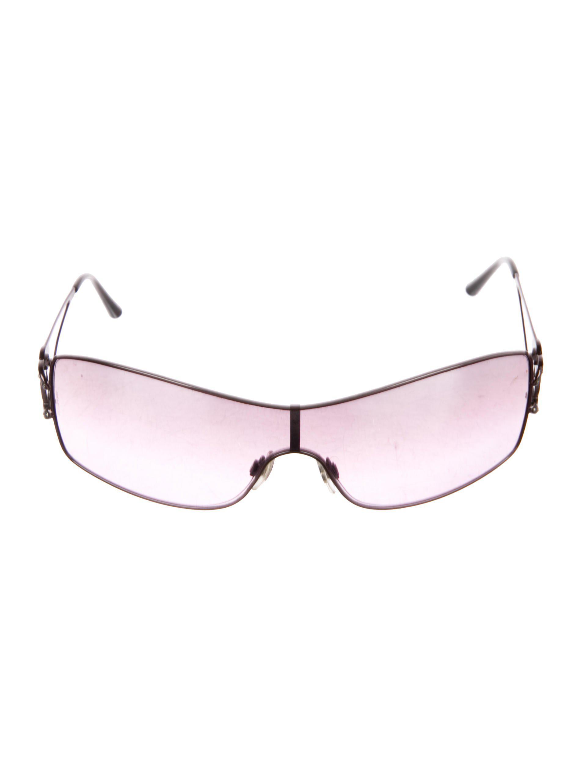 63b61fe463da Lyst - Chanel Crystal Cc Sunglasses in Purple