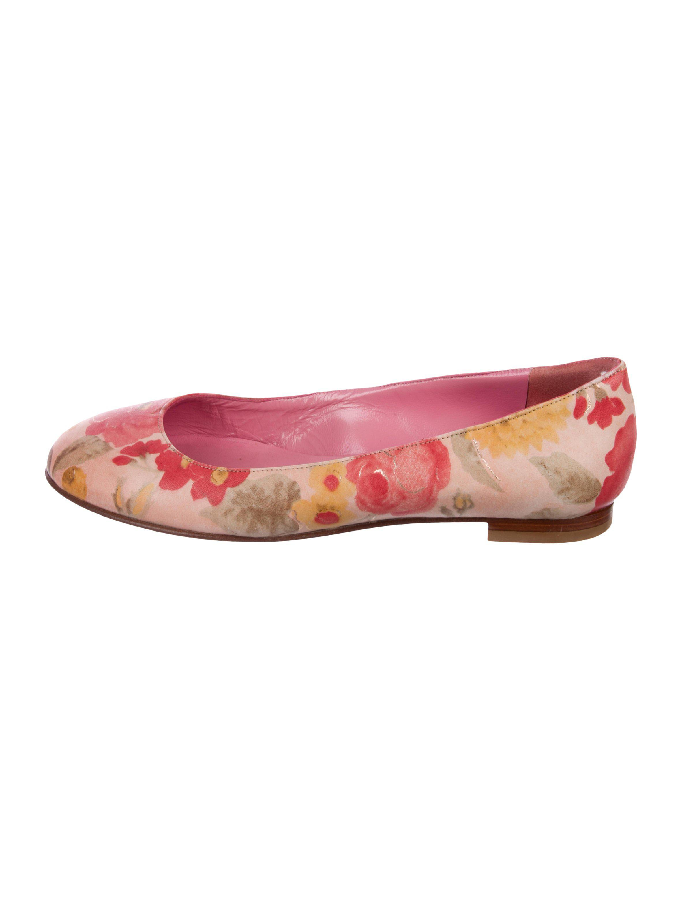 Manolo Blahnik Tere Round-Toe Flats cheap manchester great sale sale fake cheap shop for 1oEAOgNt