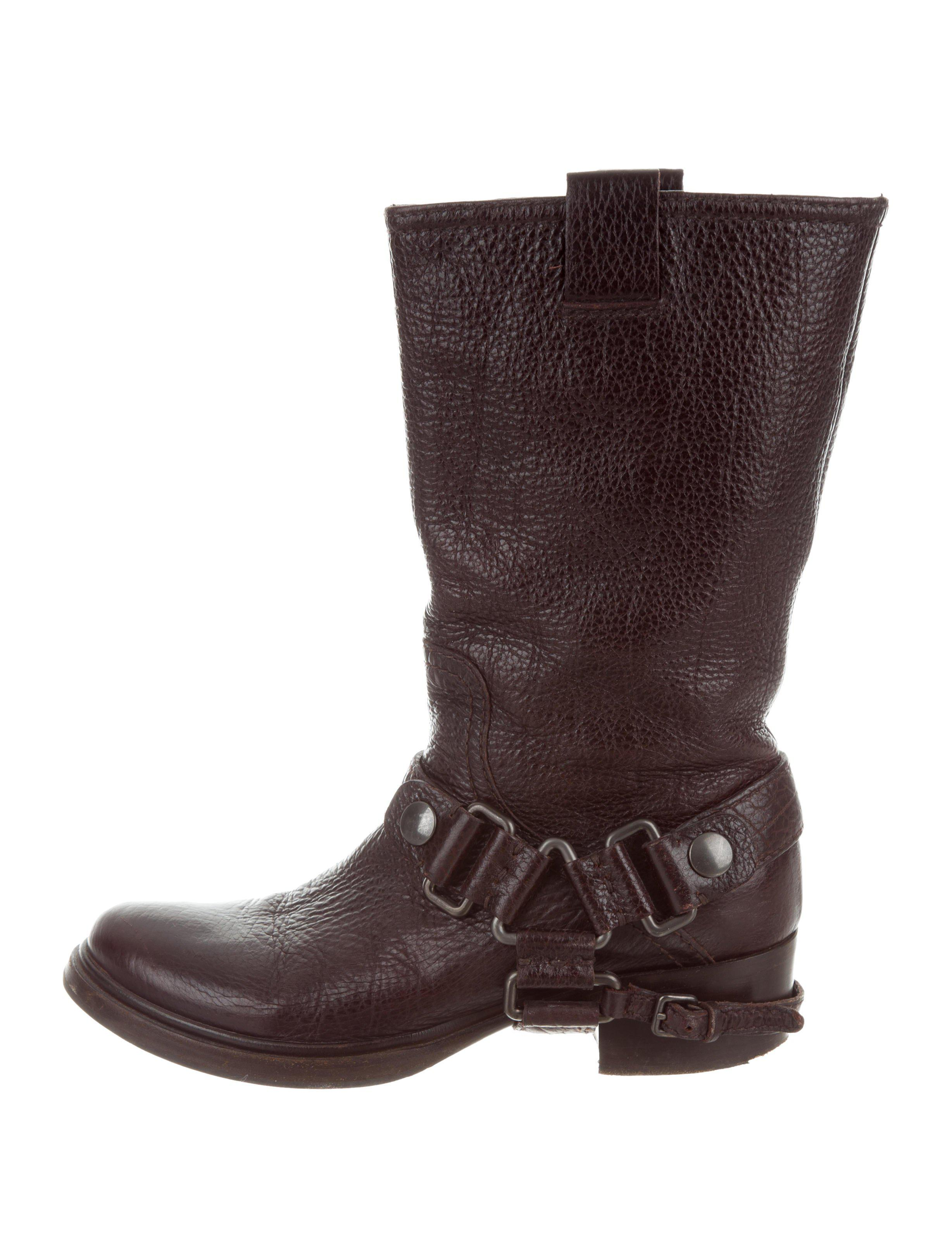 Miu Miu Mid-Calf Leather Boots clearance shop offer cheap low price outlet comfortable amazon cheap online 74W5uL