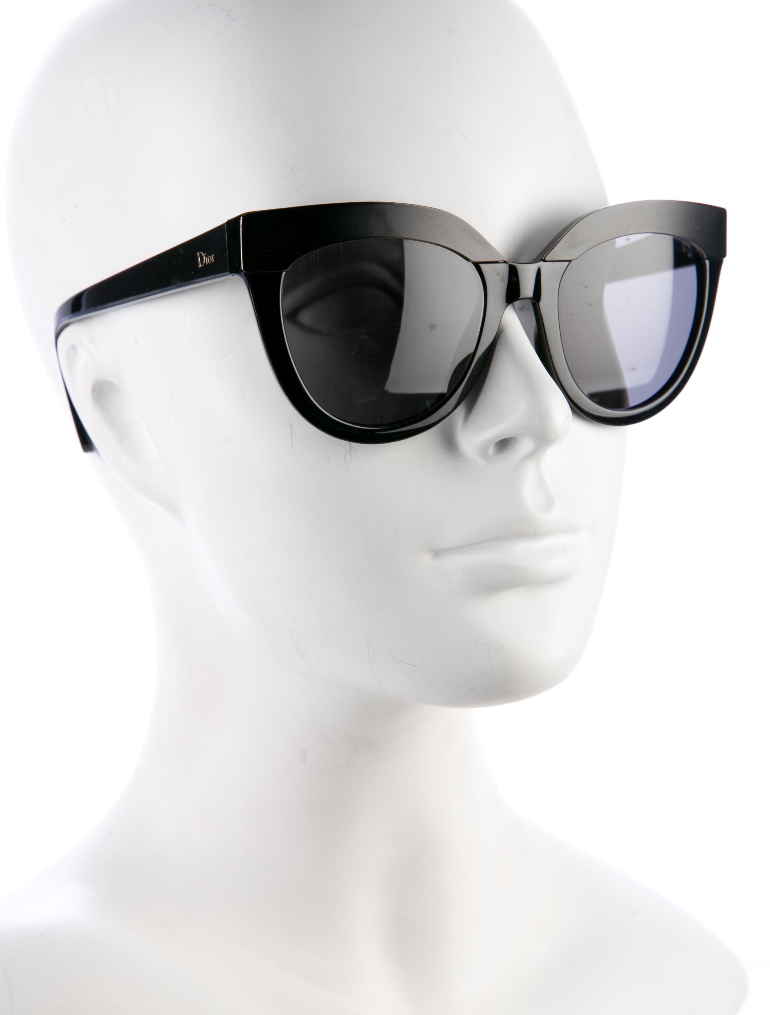 165561ceeacf Lyst dior diorsoft cat eye sunglasses black in metallic jpg 2456x3240 Cat  dior