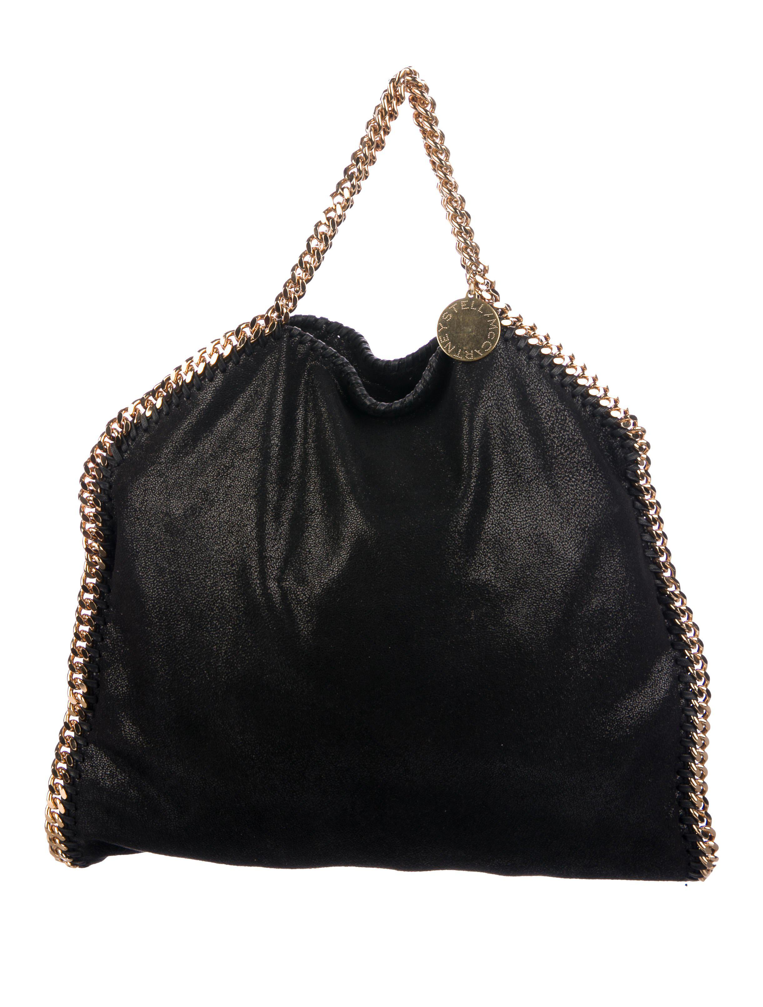 Lyst - Stella Mccartney Falabella Satchel Black in Metallic 7f551b85db2a8