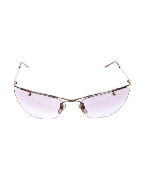 988c60ec855 Lyst - Dior Rimless Tinted Sunglasses in Purple