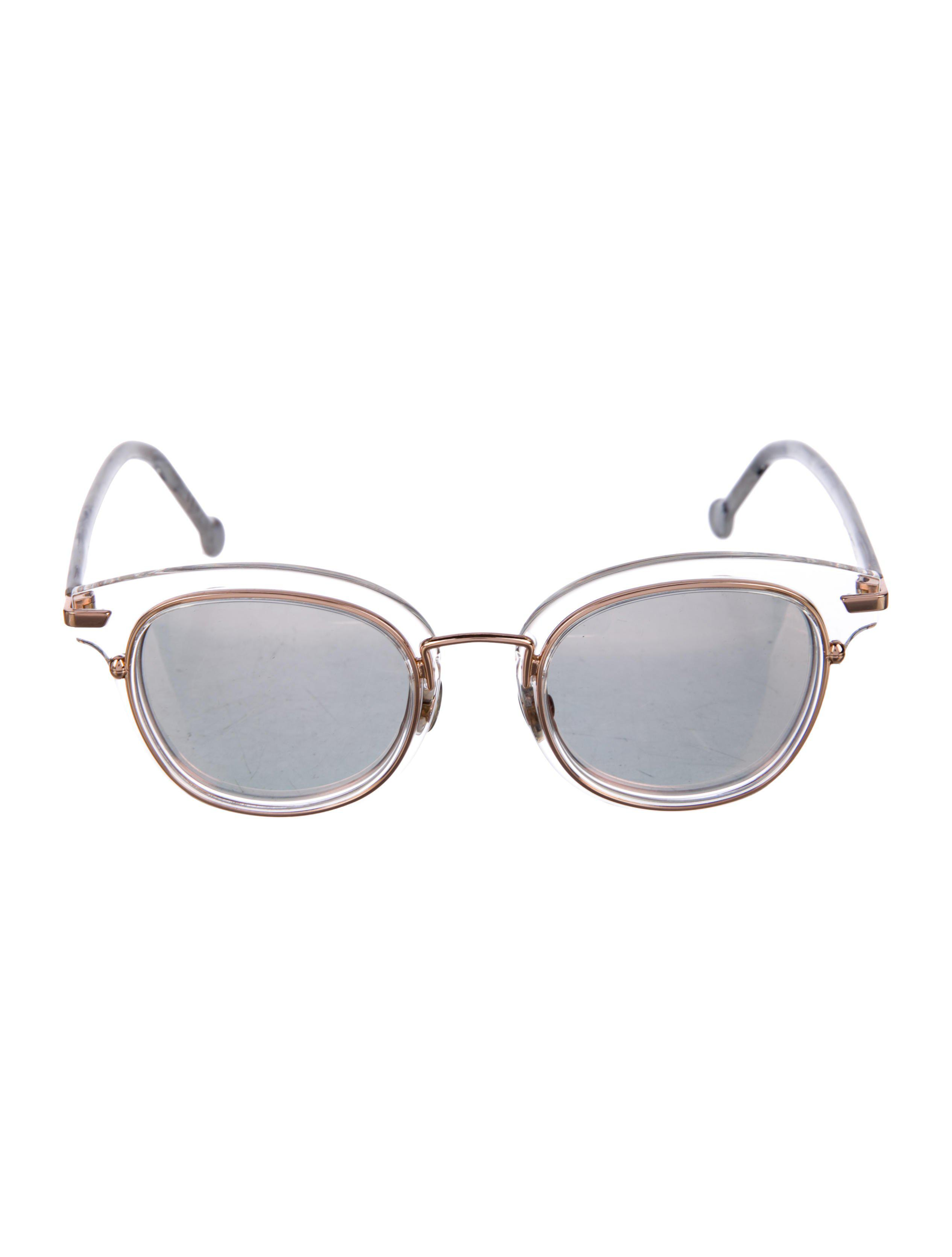ea86887b53e Lyst - Dior Origins 2 Mirrored Sunglasses Clear in Metallic
