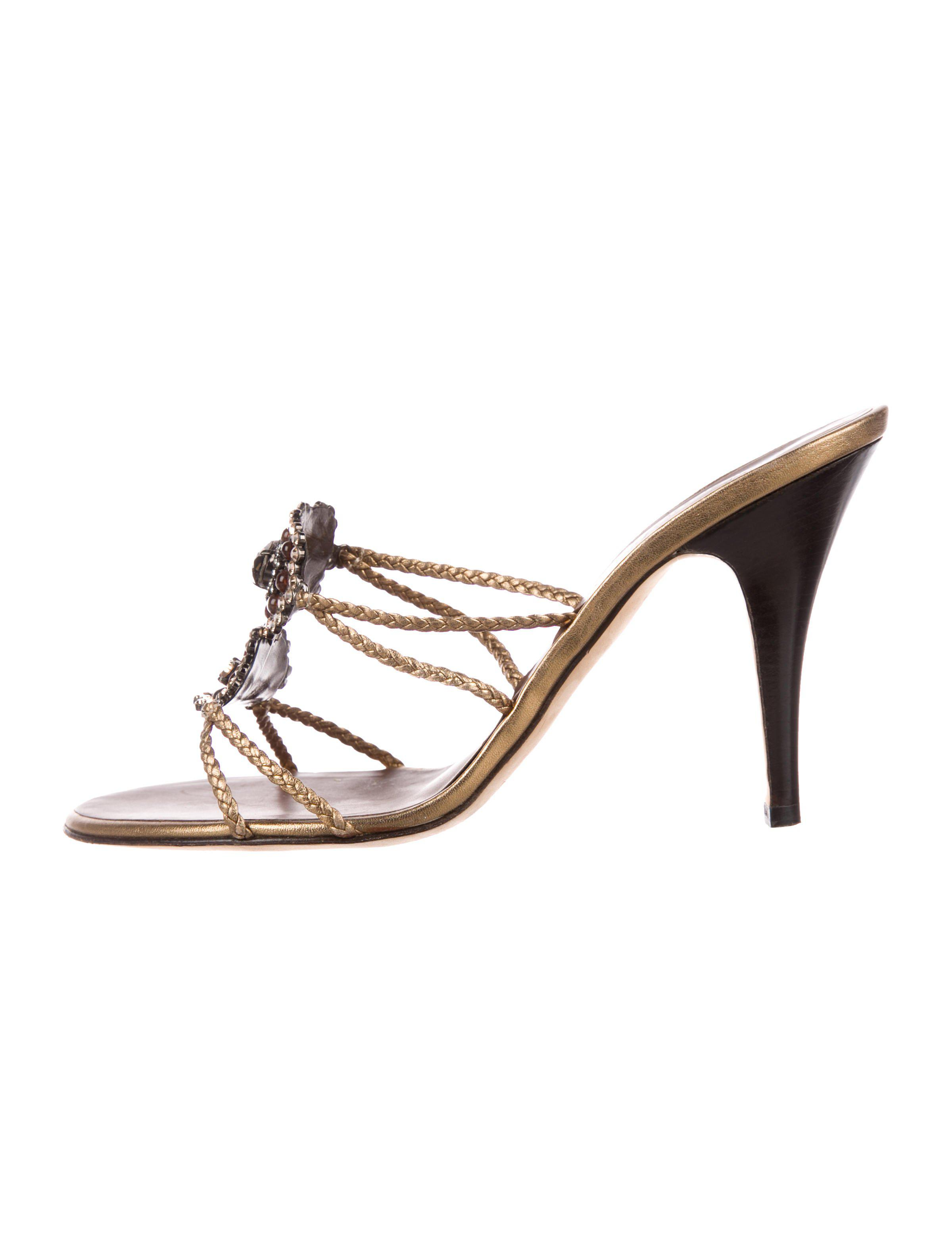 14a94471c7c9 Lyst - Giuseppe Zanotti Embellished Leather Sandals Gold in Metallic