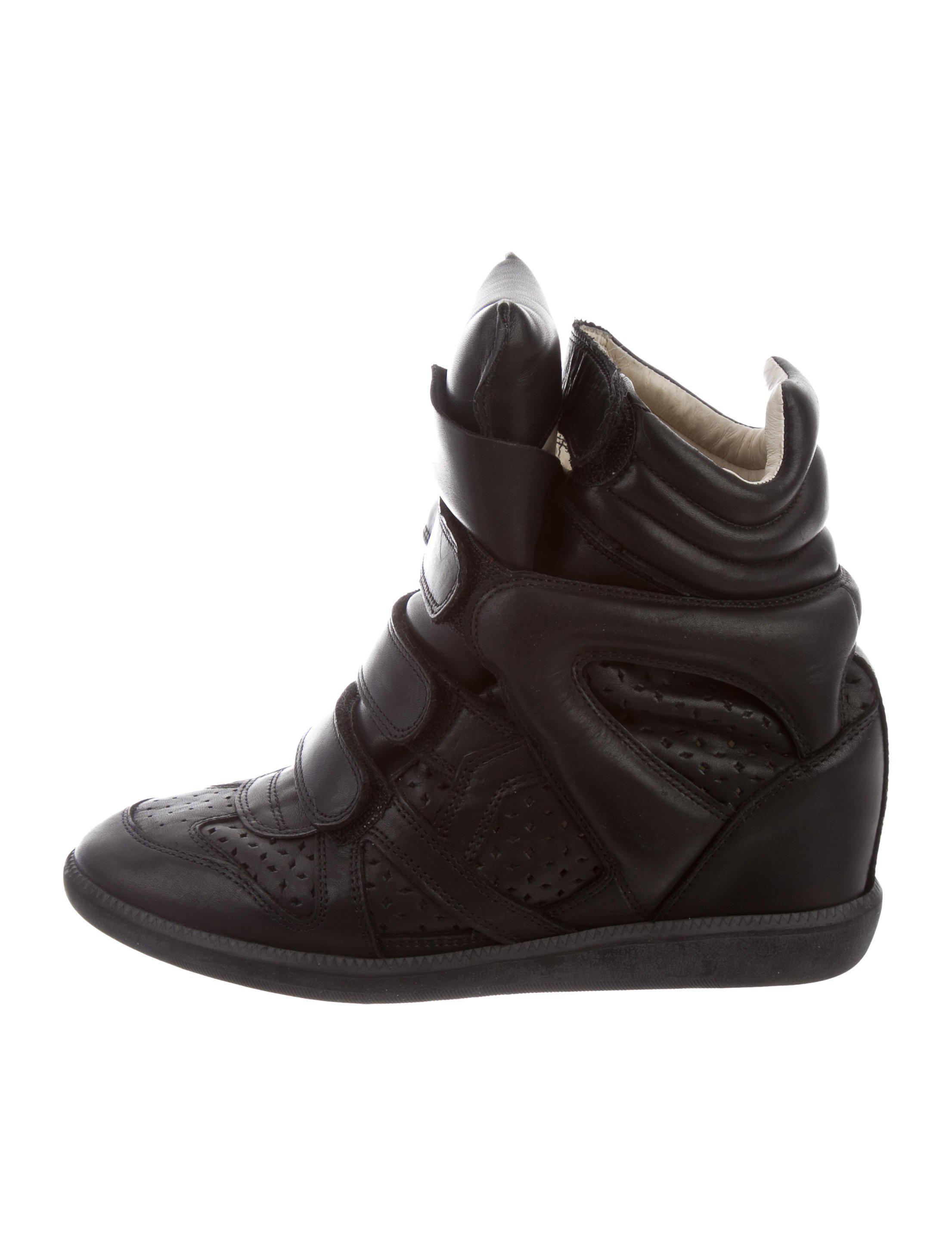 Isabel Marant Black Beckett Wedge Sneakers UIN83HgxJ