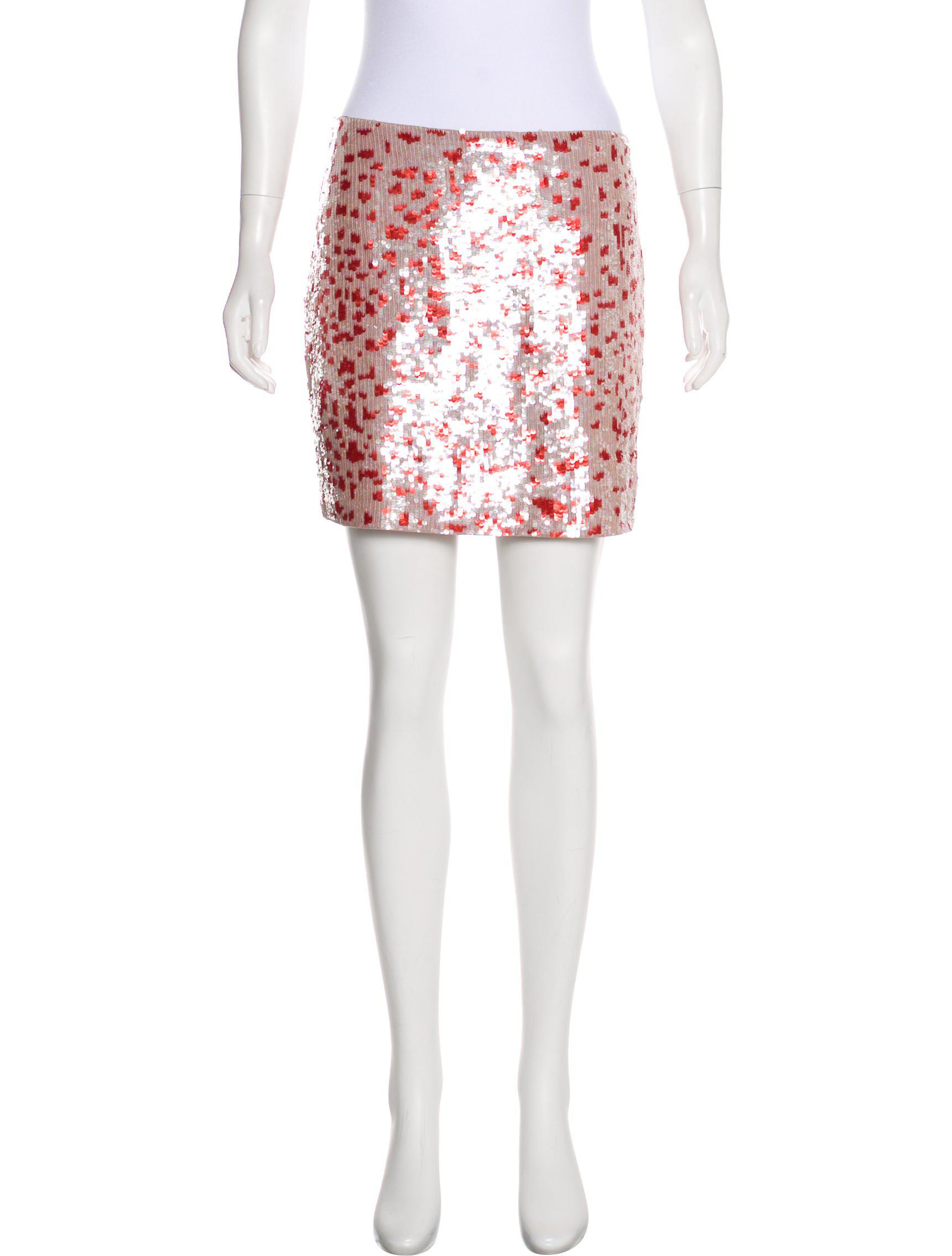 3463a148b5 Lyst - Sachin & Babi Sequin Mini Skirt in Red