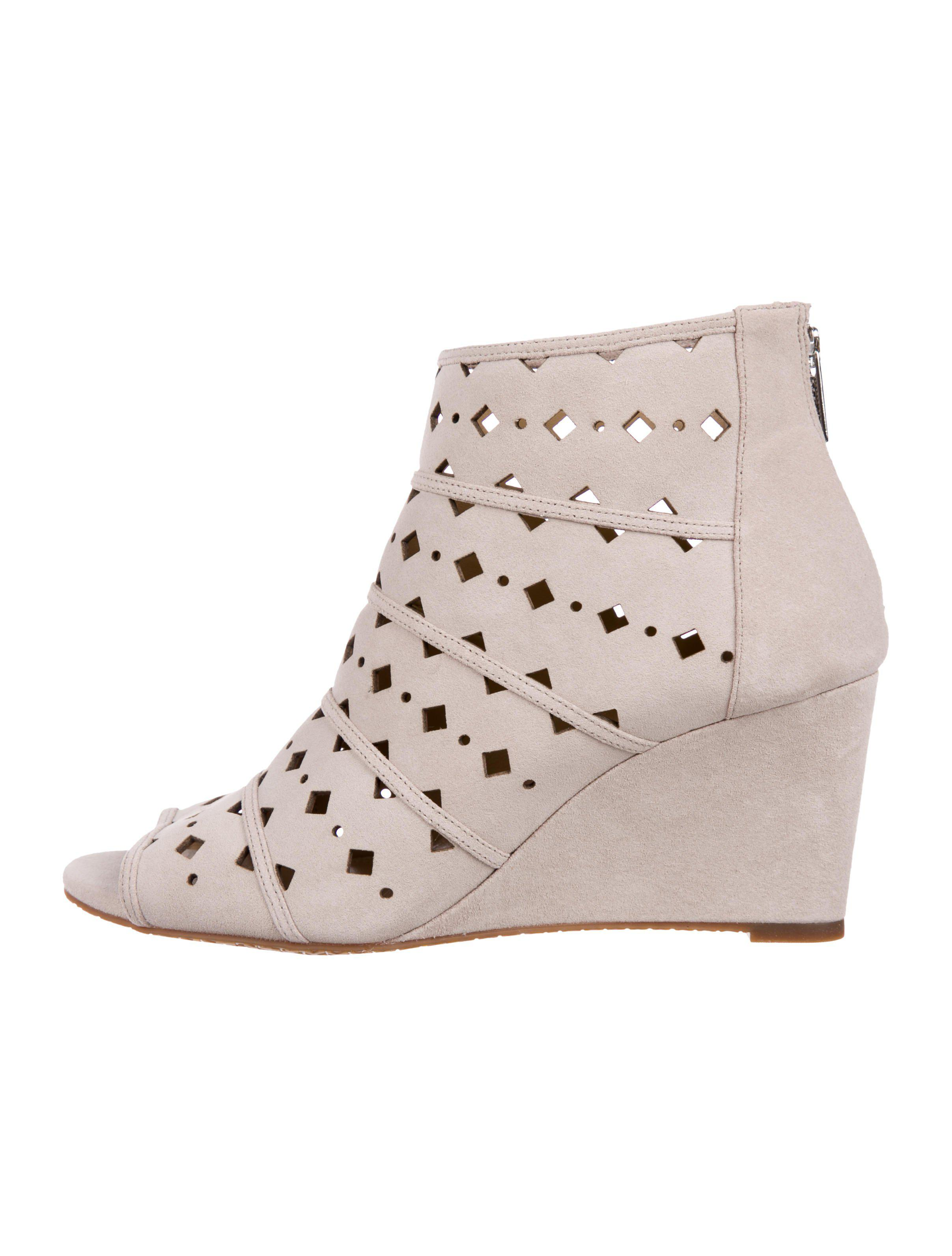 7b54146553a7 Lyst - Michael Kors Uma Suede Wedges in Gray