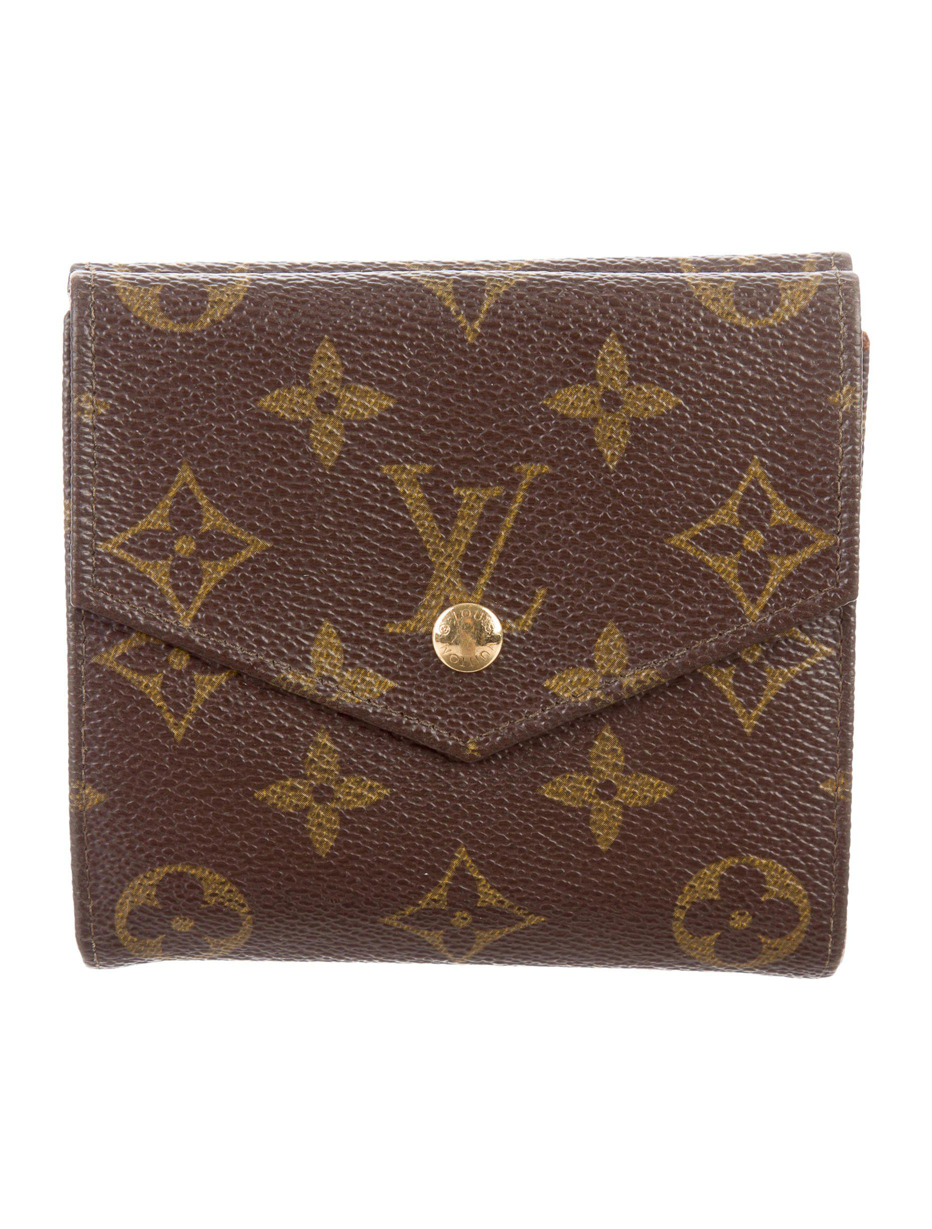 9936a14d56a7 Louis Vuitton. Women s Natural Monogram Elise Wallet Brown