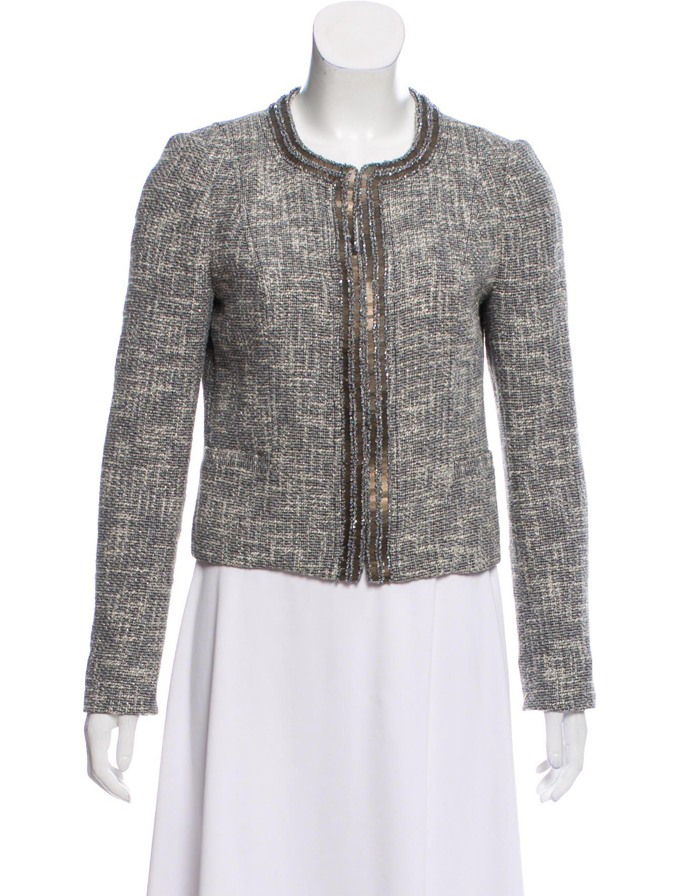 b408e87da292 Lyst - Tory Burch Tweed Structured Blazer Grey in Gray