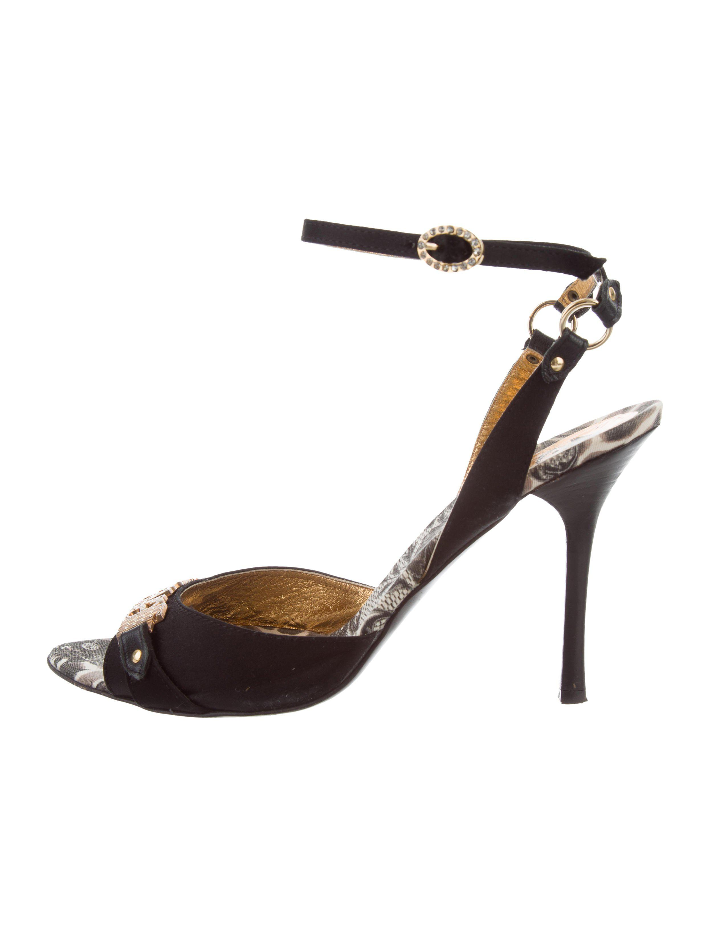 Just Cavalli Satin Ankle Strap Sandals buy cheap best prices for sale discount sale oFQCT6oYUZ