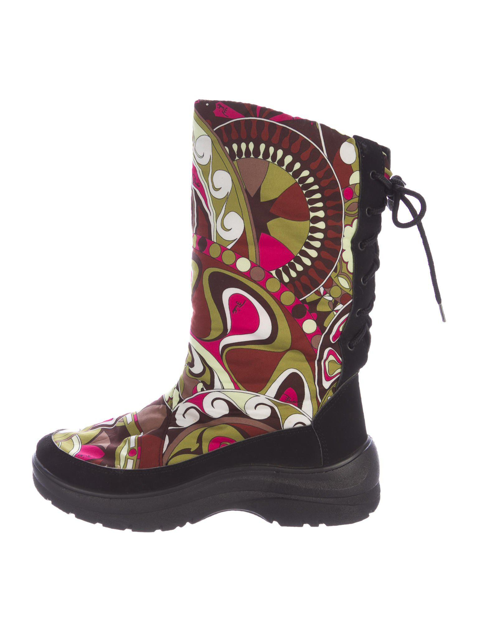release dates for sale Emilio Pucci Printed Snow Boots looking for cheap price classic sale online clearance for sale Effw52
