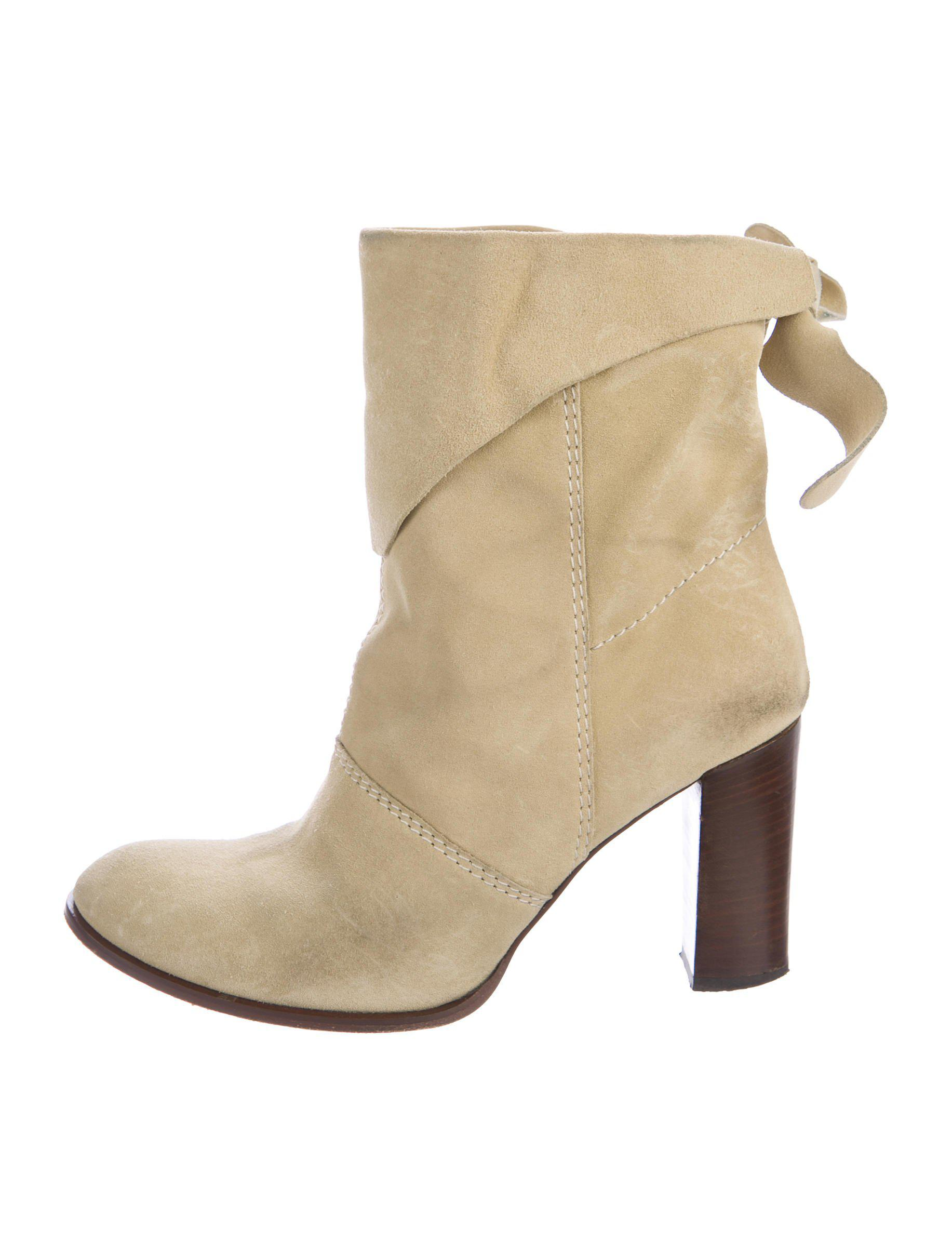 discount low shipping fee Marc Jacobs Suede Round-Toe Booties discounts online cheap Inexpensive buy cheap low shipping DqR0DJz3g