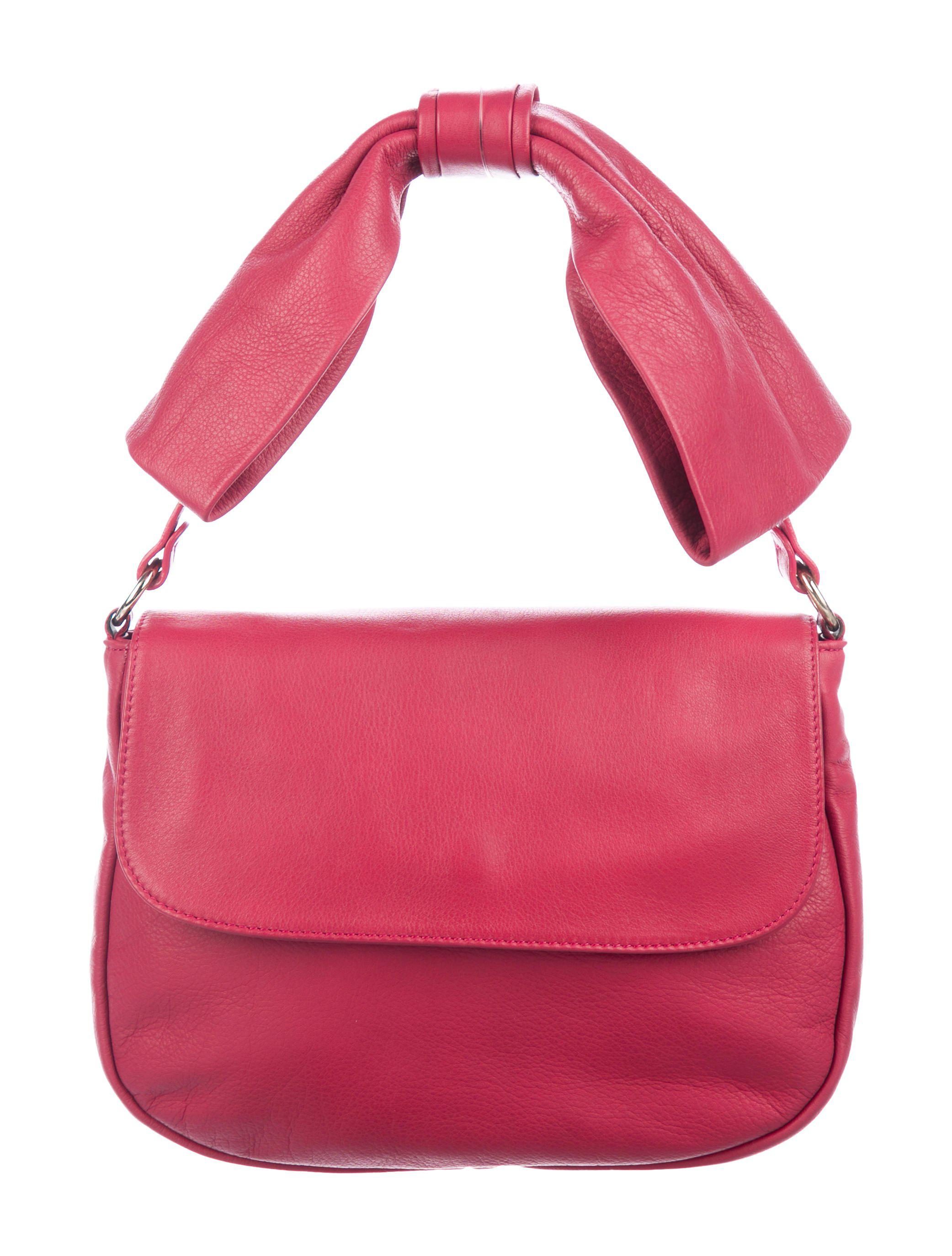89b4849c796e Lyst - Red Valentino Leather Bow Flap Bag in Metallic