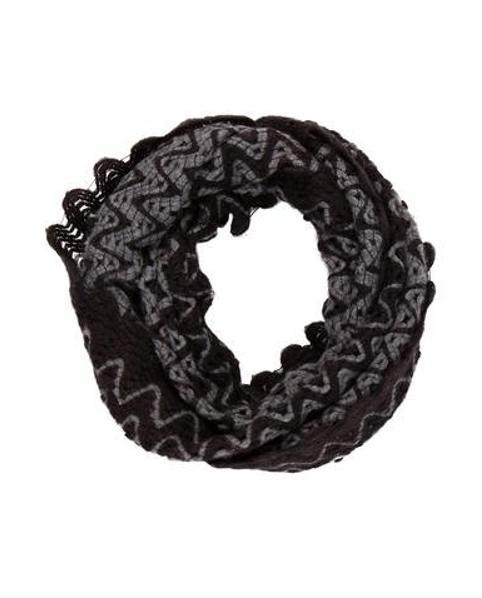 Lyst Missoni Knit Pattern Infinity Scarf Black In Gray
