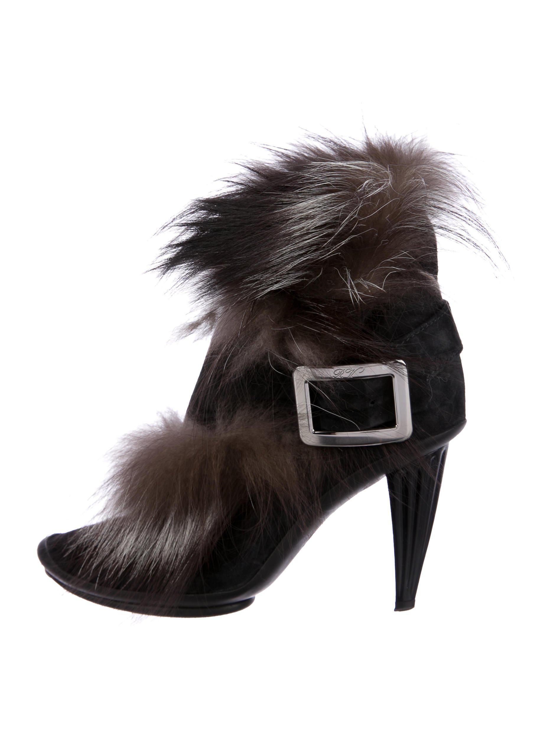 ost release dates Roger Vivier Suede Fur-Trimmed Ankle Boots comfortable sale online latest for sale cheap shop WxvM86A