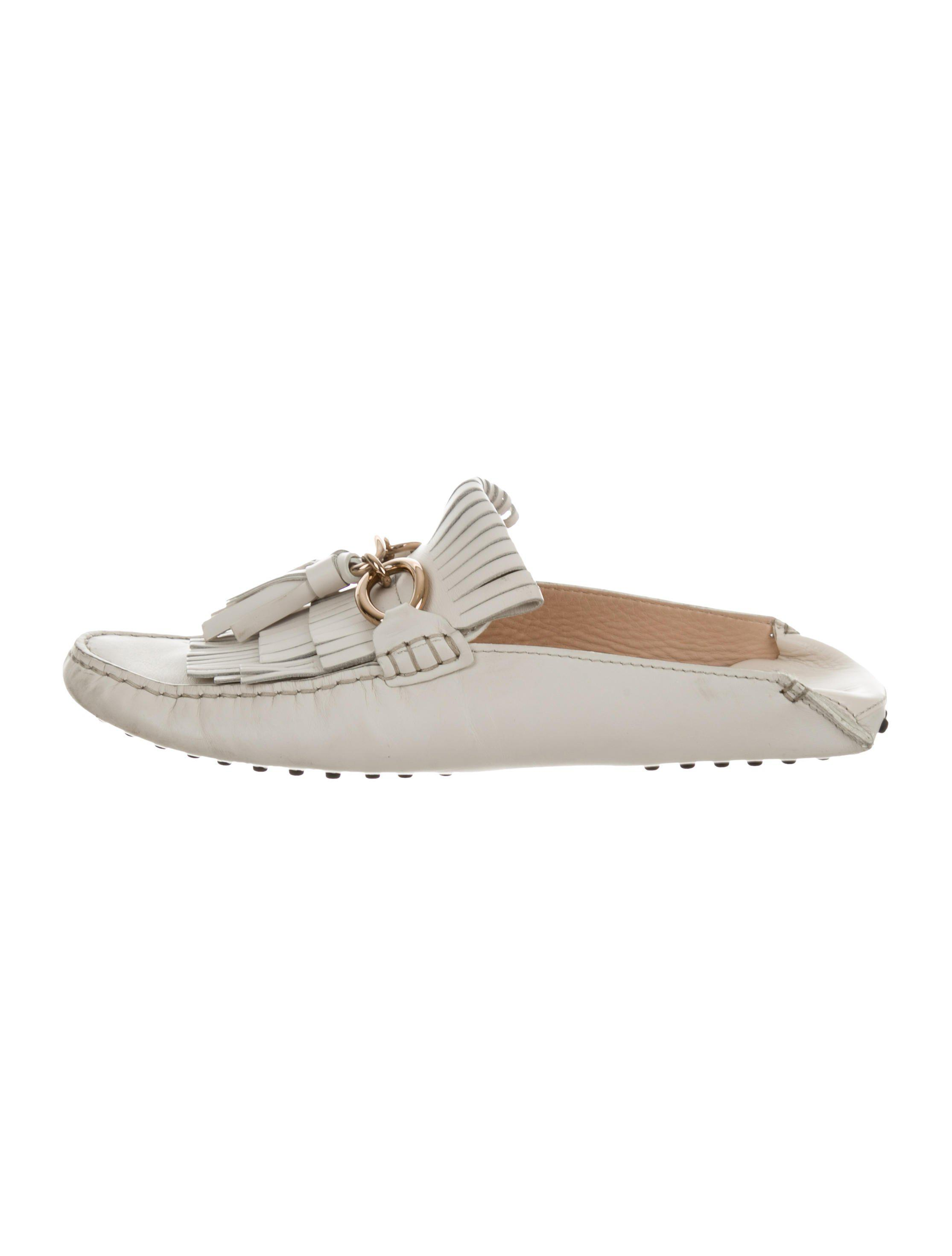 Tod's Leather Kiltie Mules best store to get cheap price LppT6R