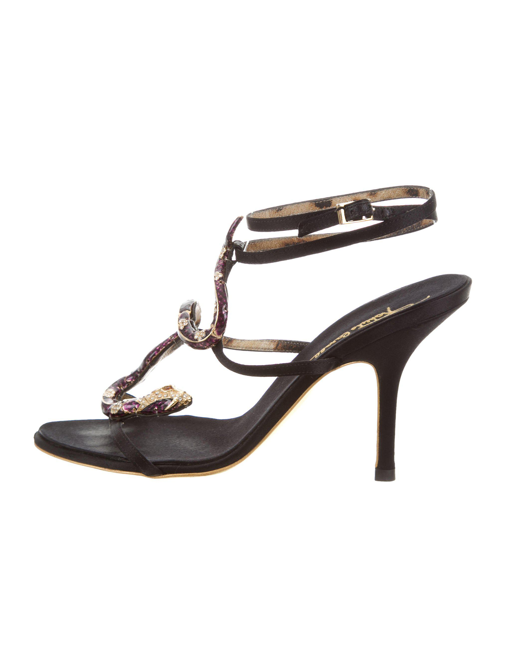 sast for sale limited edition cheap price Roberto Cavalli Metallic Ankle-Strap Sandals cheap sale countdown package discount cost fDw7FDB4R