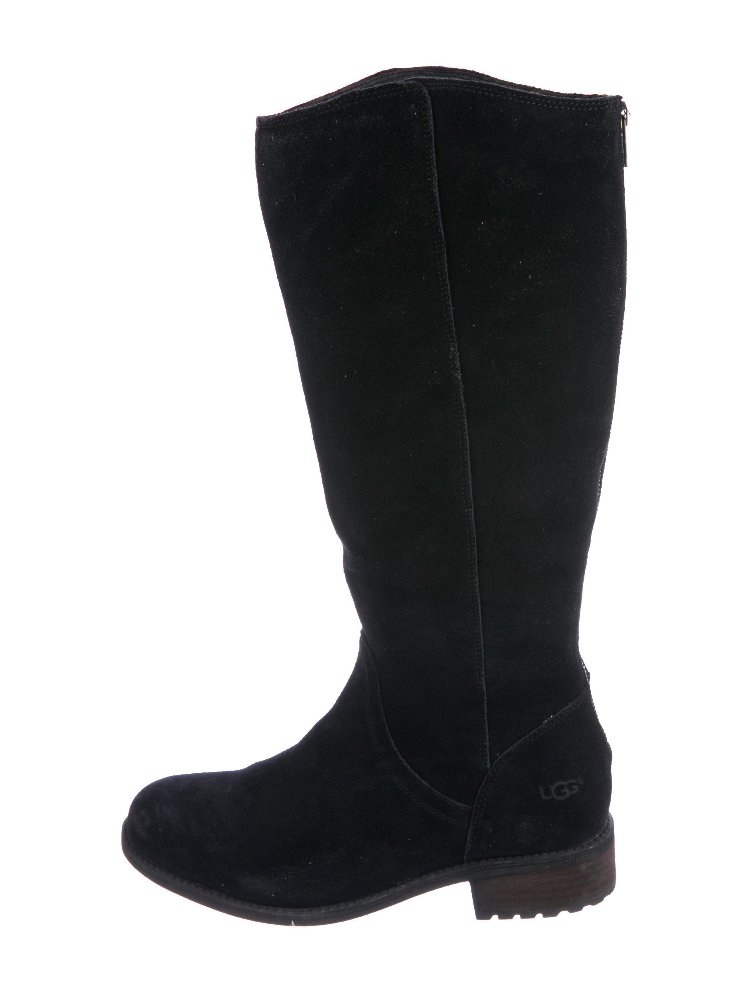 black knee high uggs