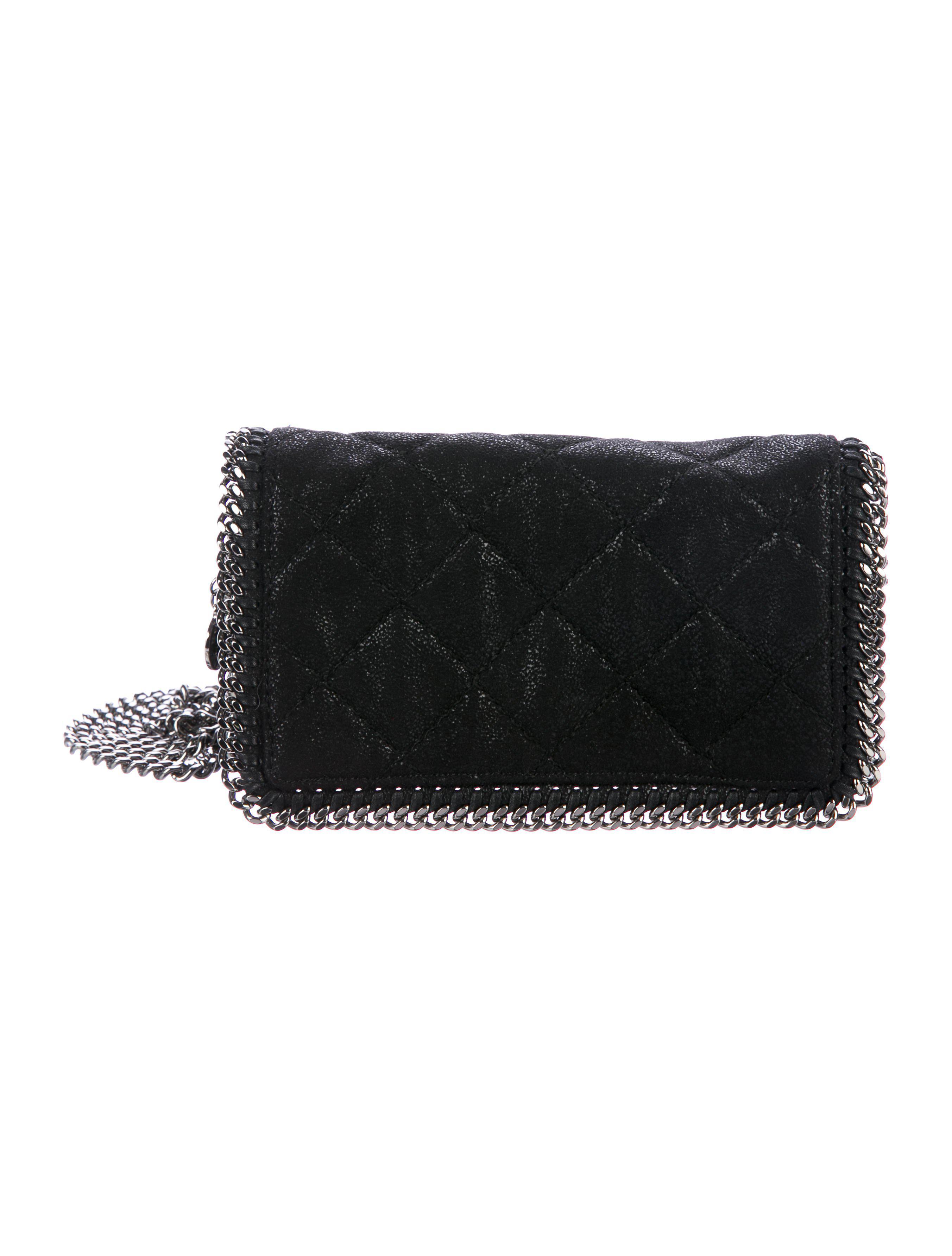 27b325dcd0a2 Lyst - Stella Mccartney Quilted Falabella Crossbody Bag in Black